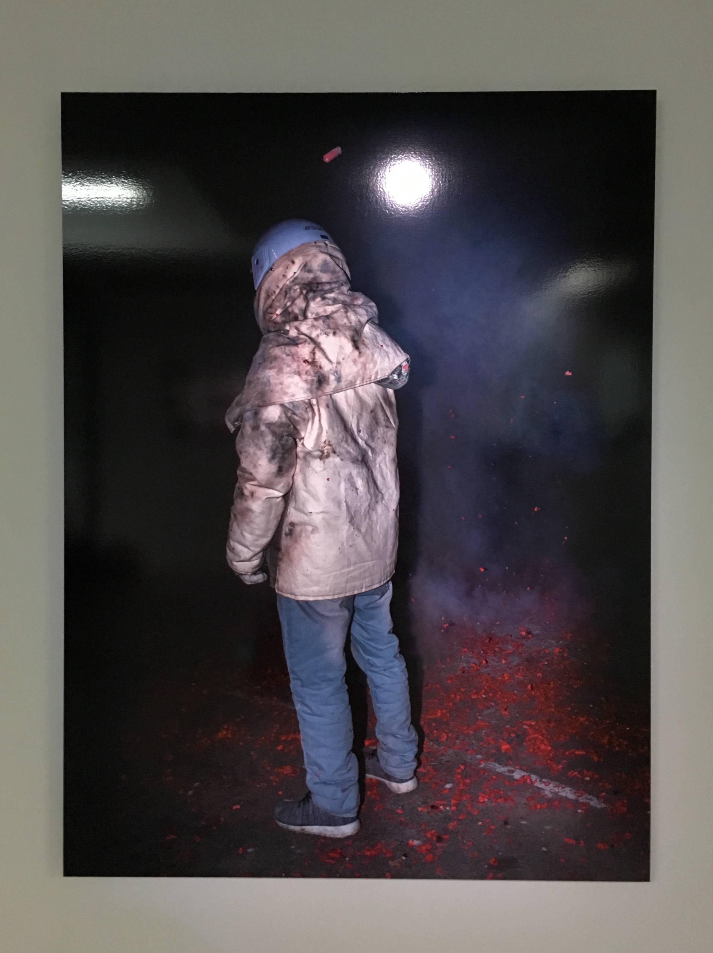 陳伯義,《食砲人 - X》,75 x 100 cm,雷射輸出彩色銀鹽相紙,1/8,2018。