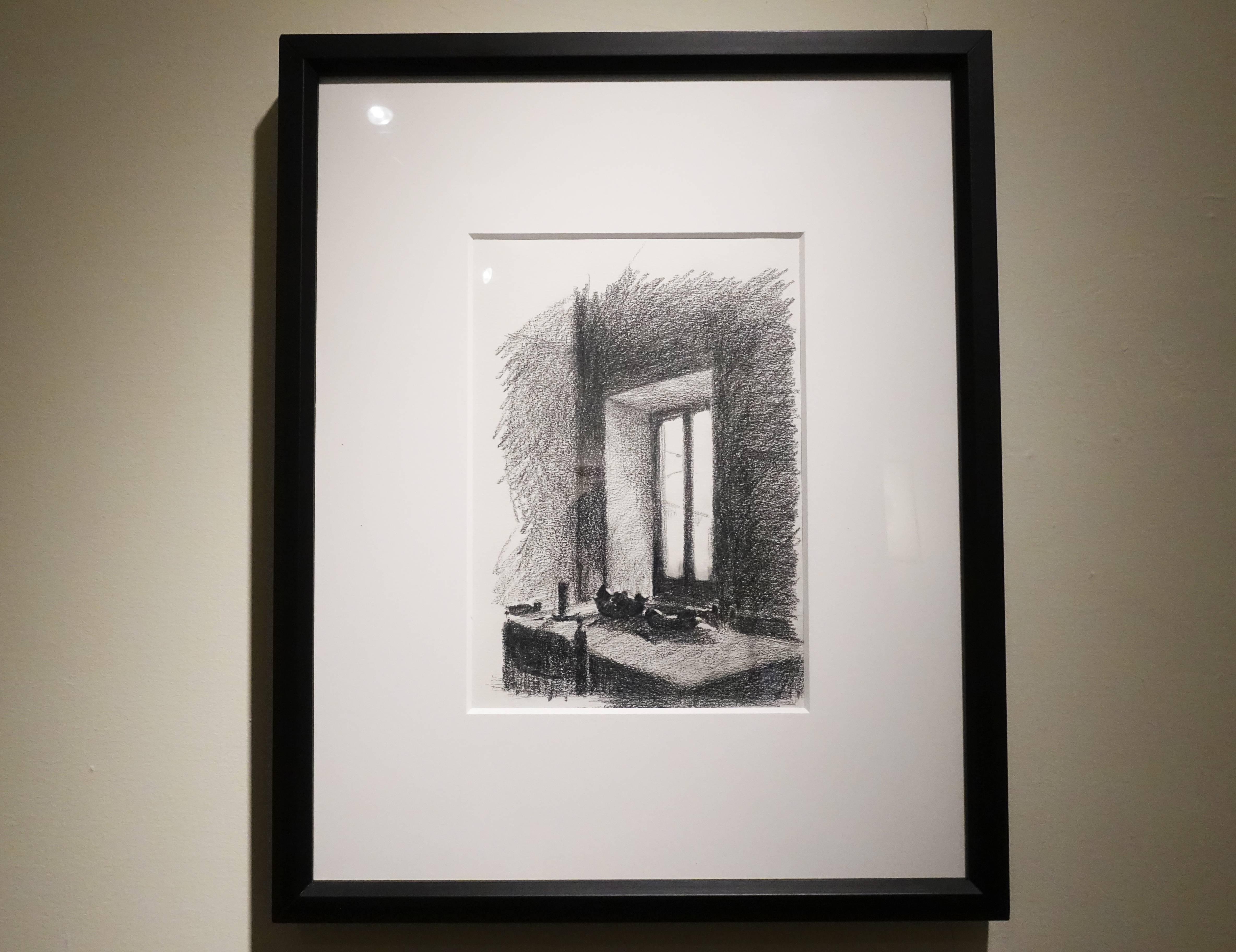 蔡舜任,《窗》,29 x 20.3 cm ,紙、鉛筆。