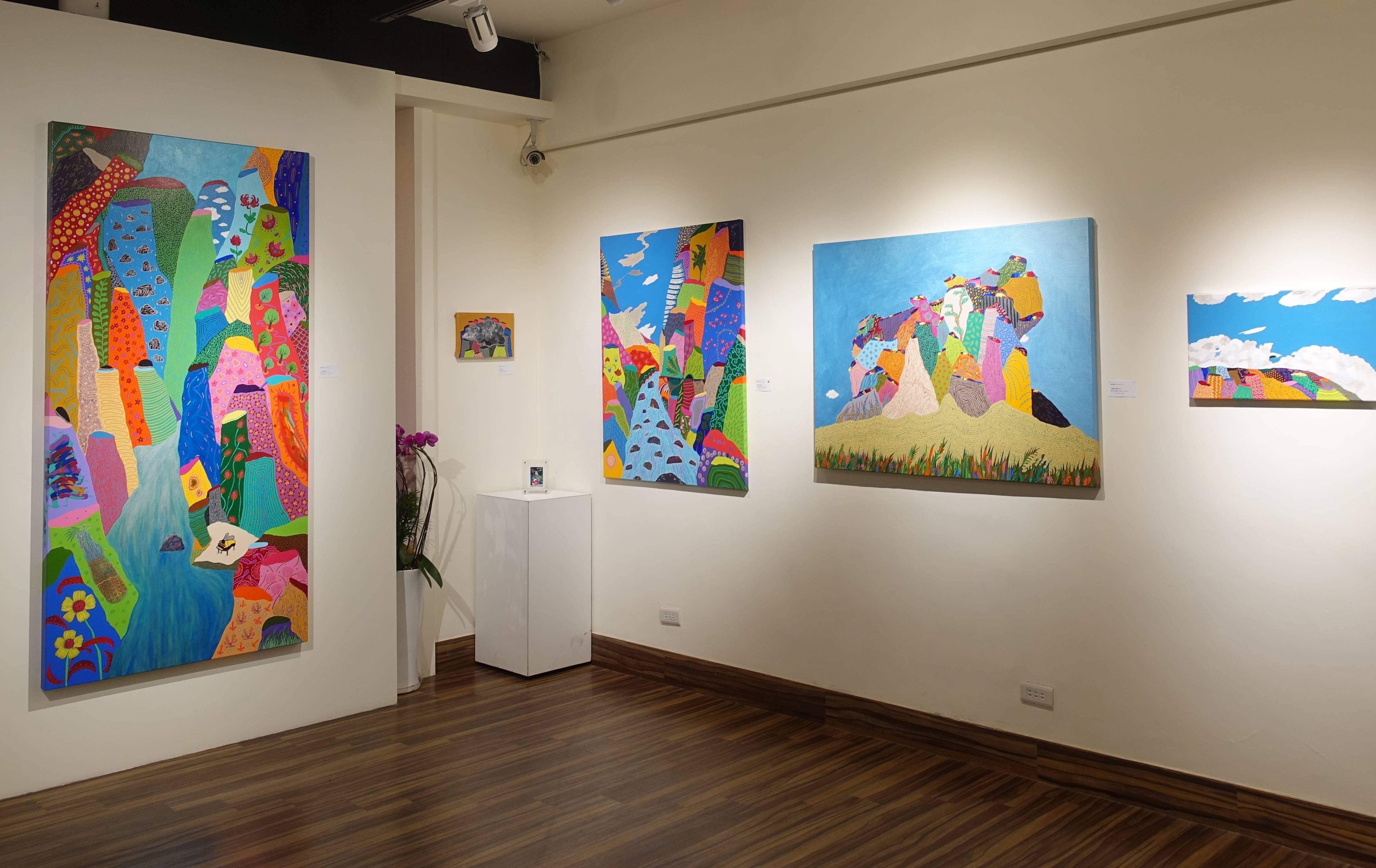 藝星藝術中心《旅途中的優雅景緻 - 盧俊翰創作個展》展覽現場。