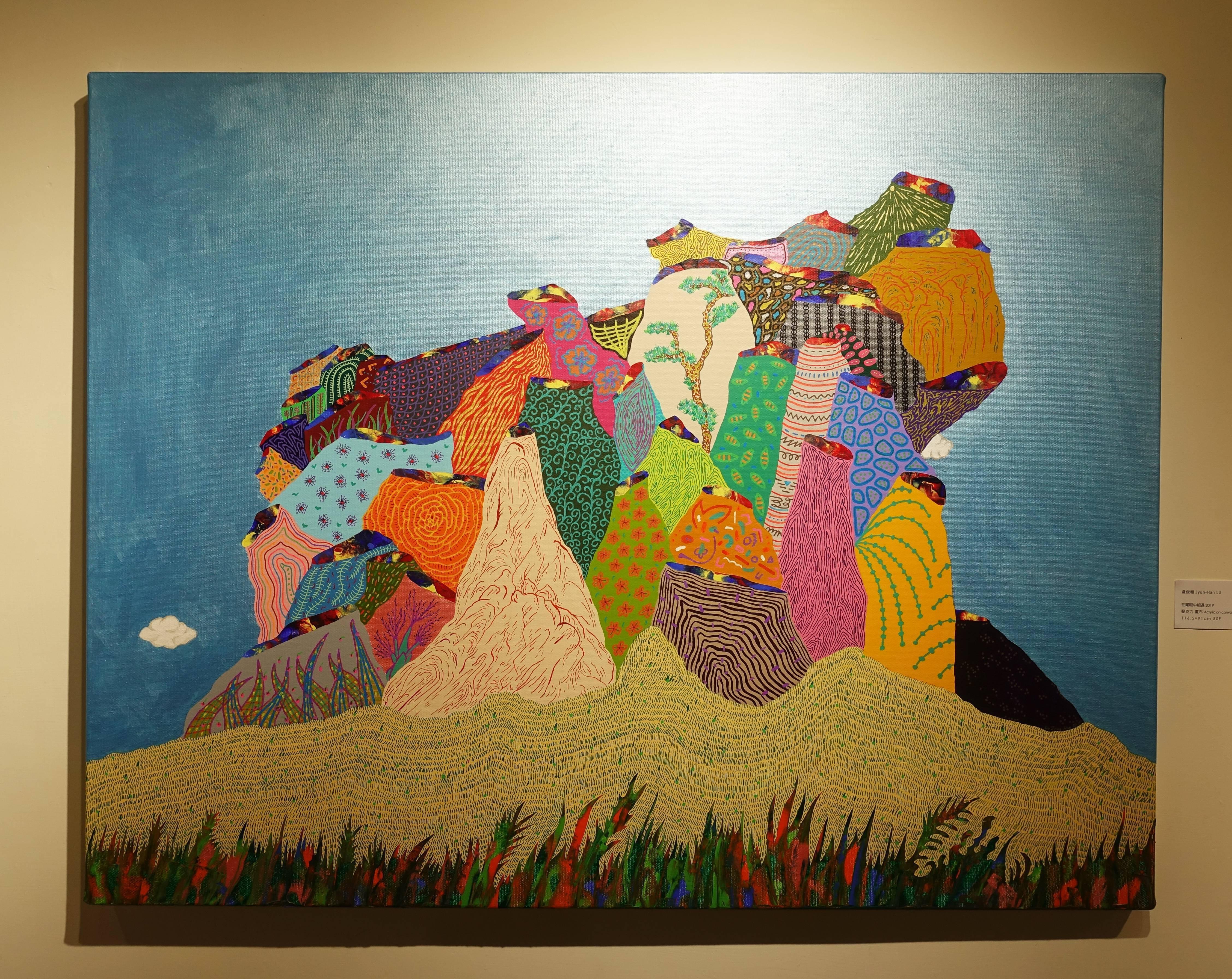 盧俊翰,《在耀眼中相遇》,116.5 x 91 cm,壓克力,2019。