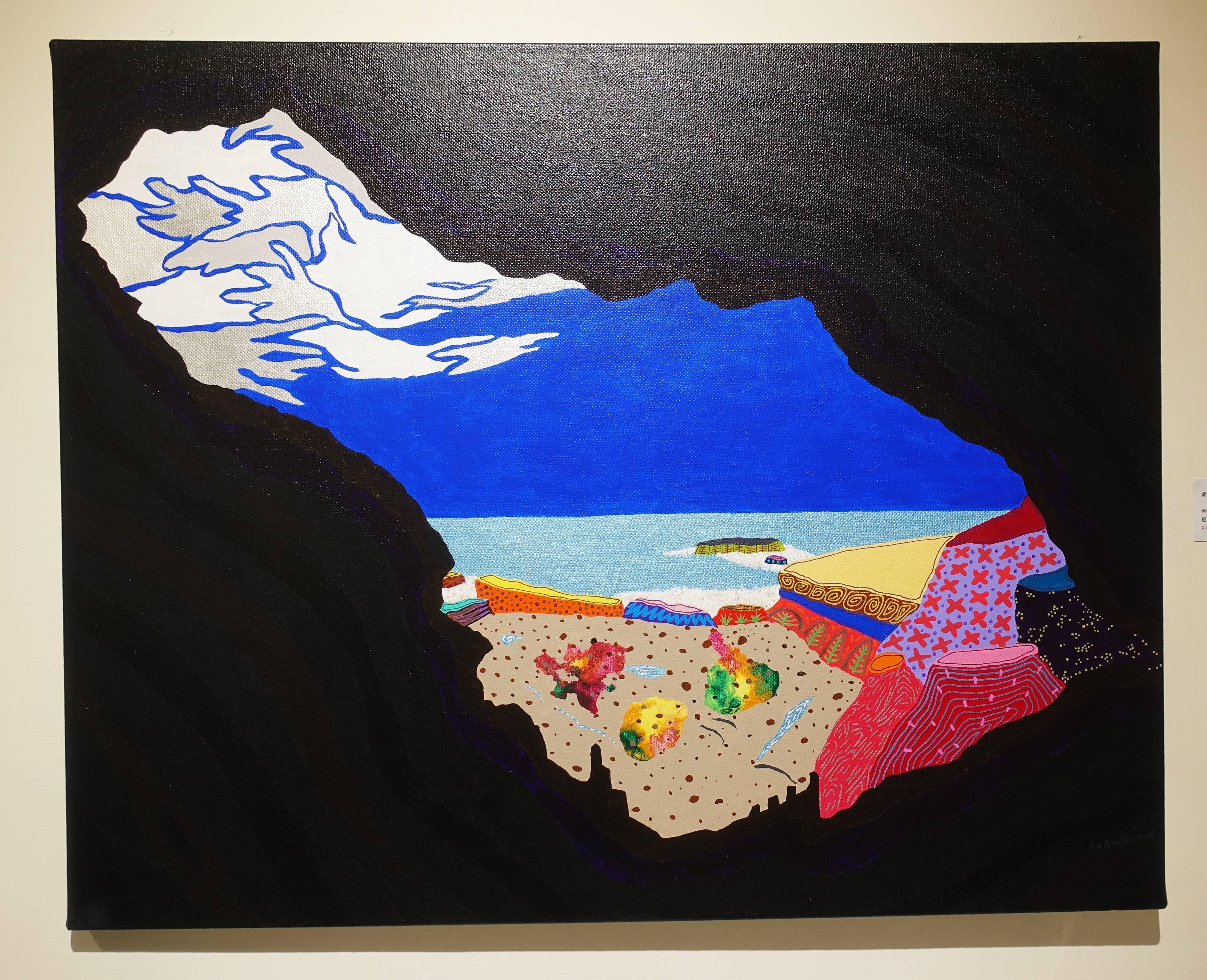 盧俊翰,《合歡洞》,91 x 72.5 cm,壓克力,2019。