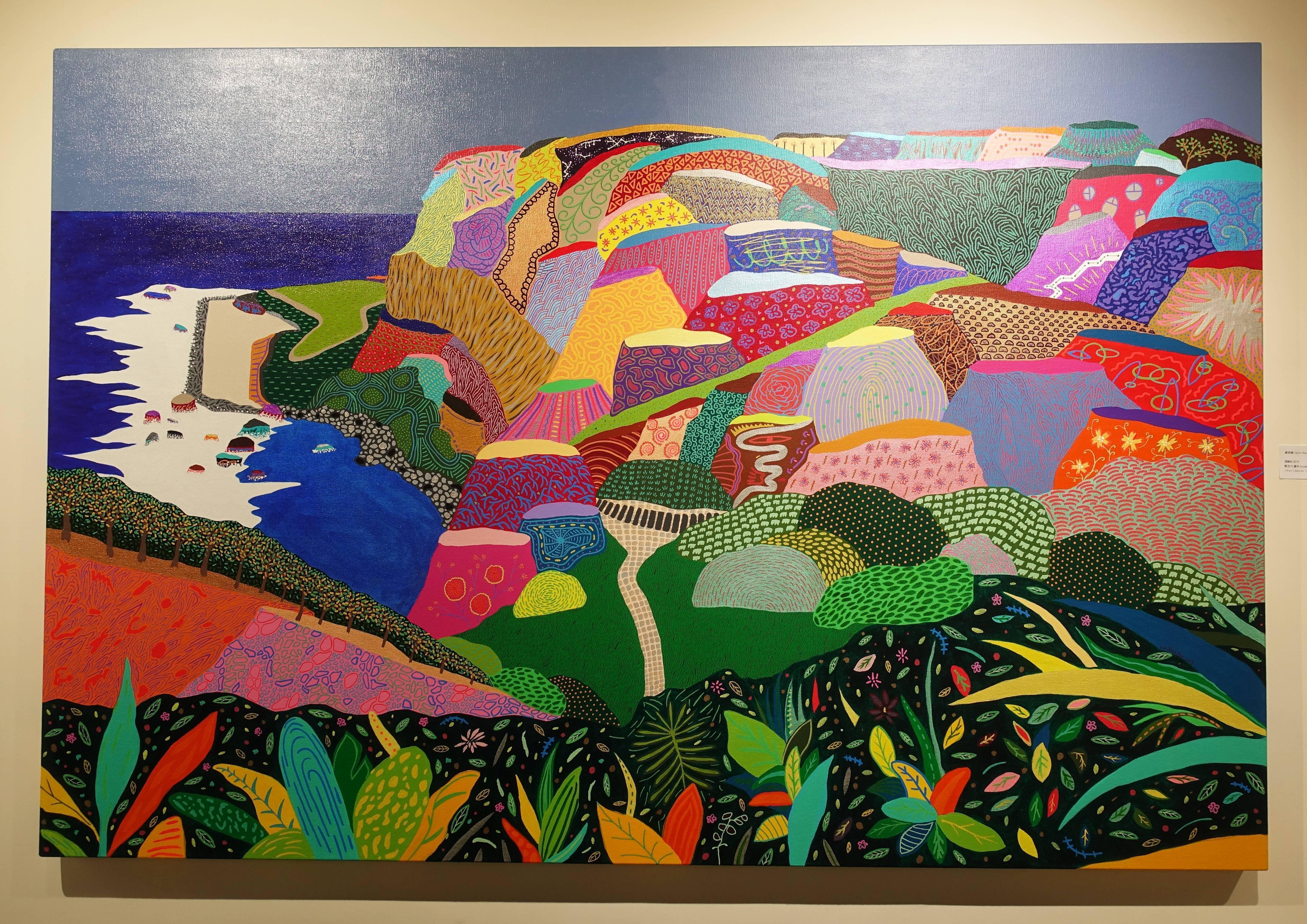 盧俊翰,《望幽谷》,194 x 130 cm,壓克力,2019。