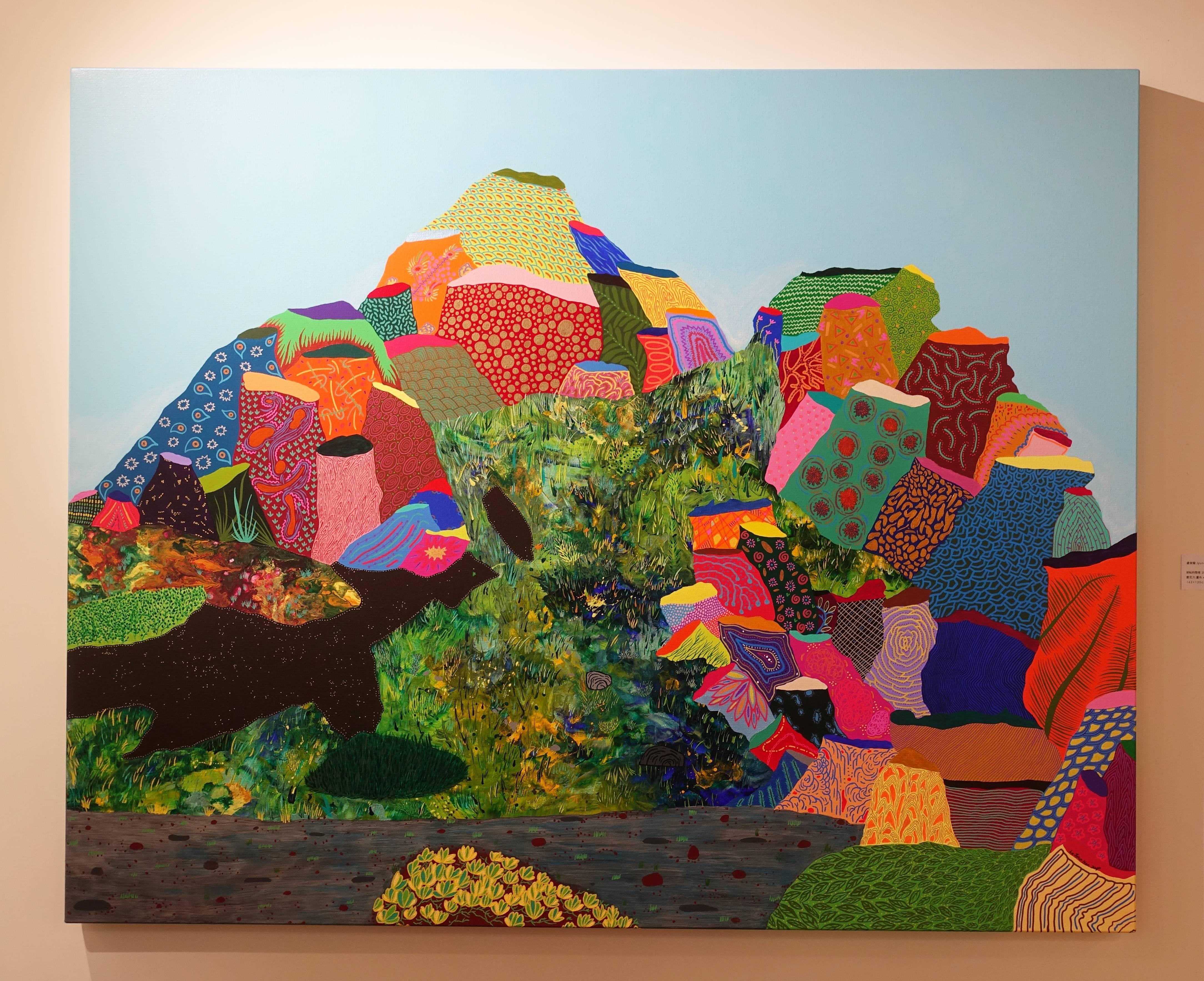 盧俊翰,《紛紜的情境》, 162 x 120 cm,壓克力,2019。