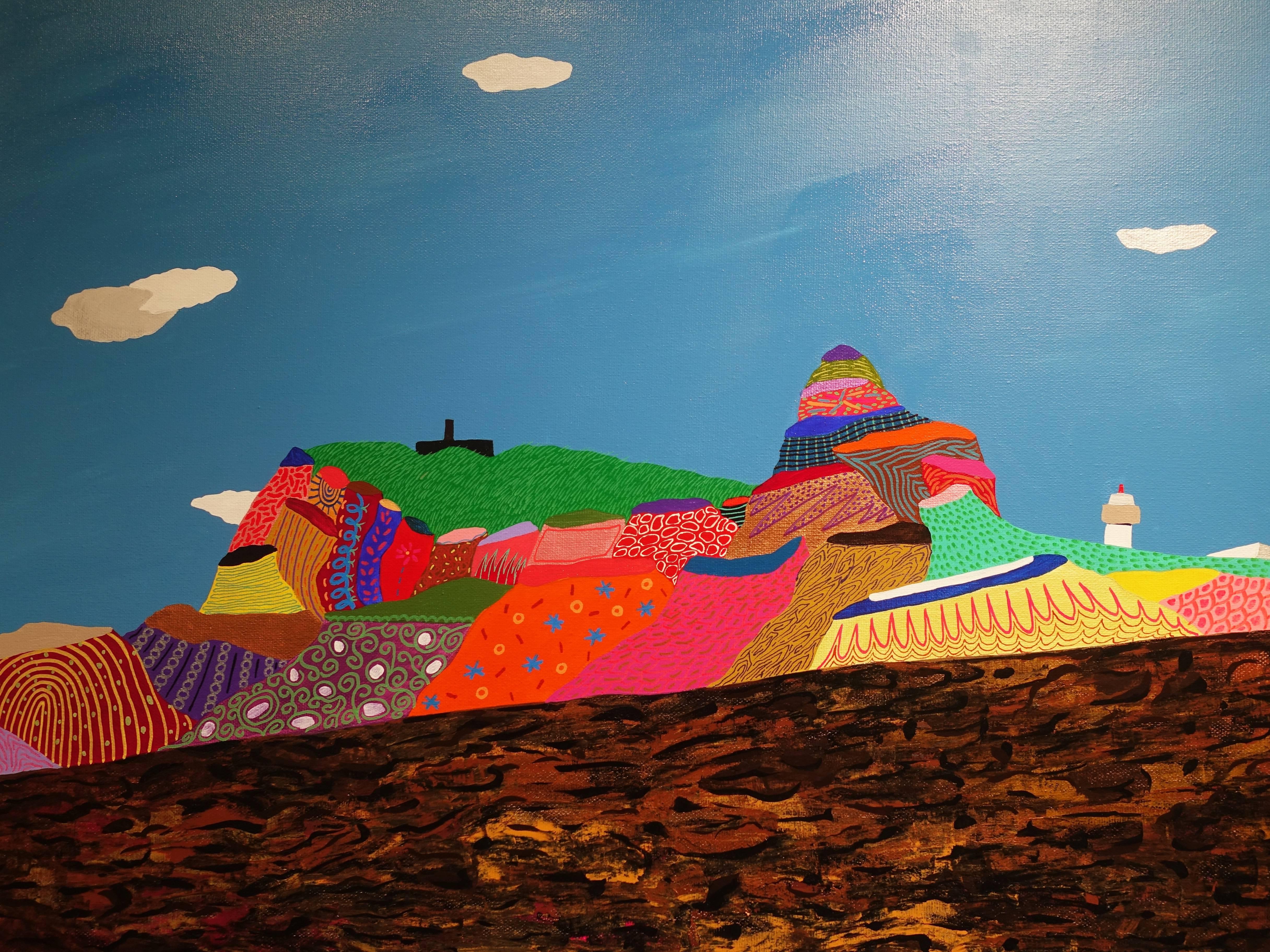 盧俊翰,《鼻頭角軍艦岩》, 130 x 80 cm,壓克力,2019。