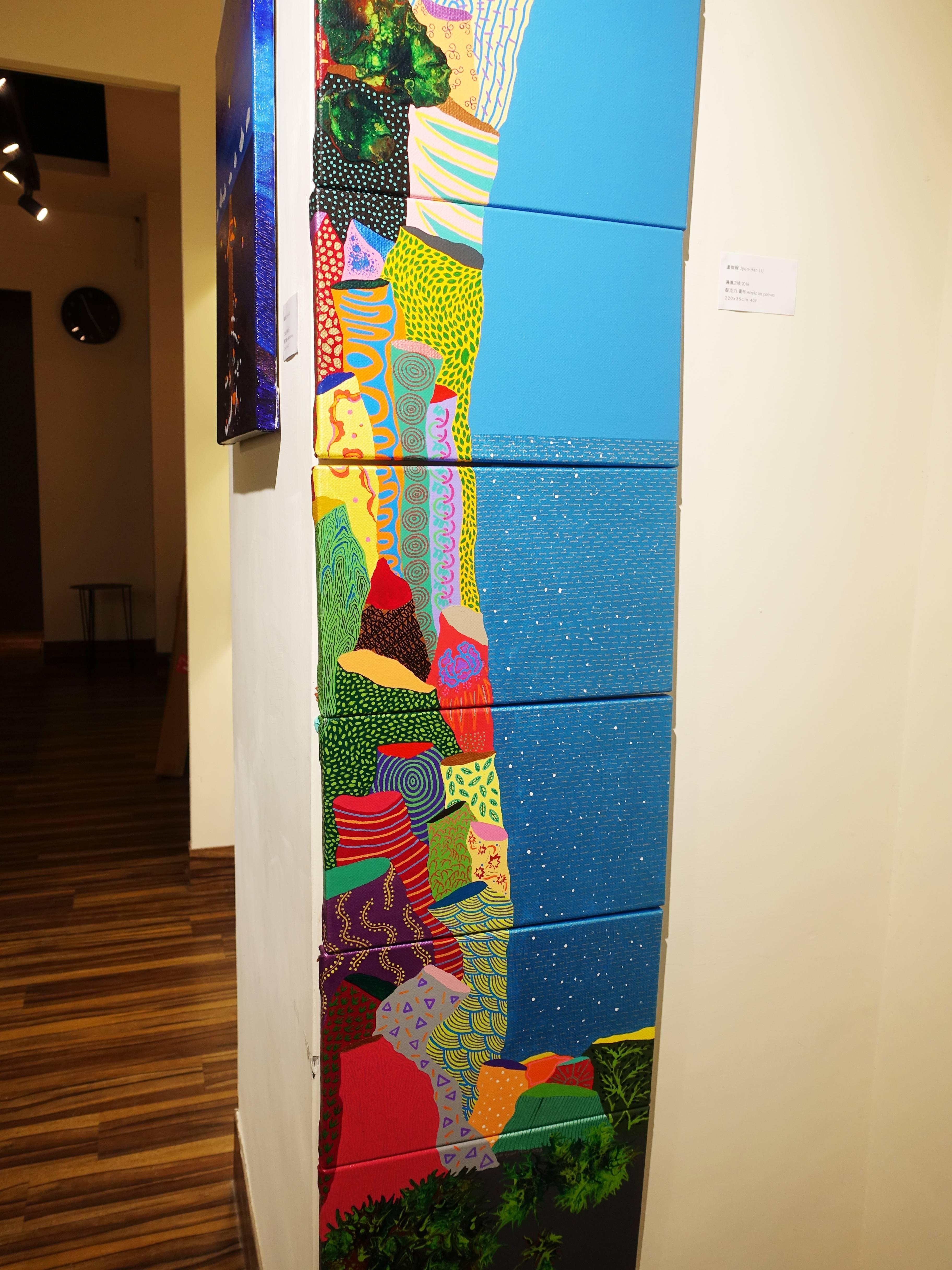 盧俊翰,《邊邊之境》細節,220 x 35 cm,壓克力,2018。