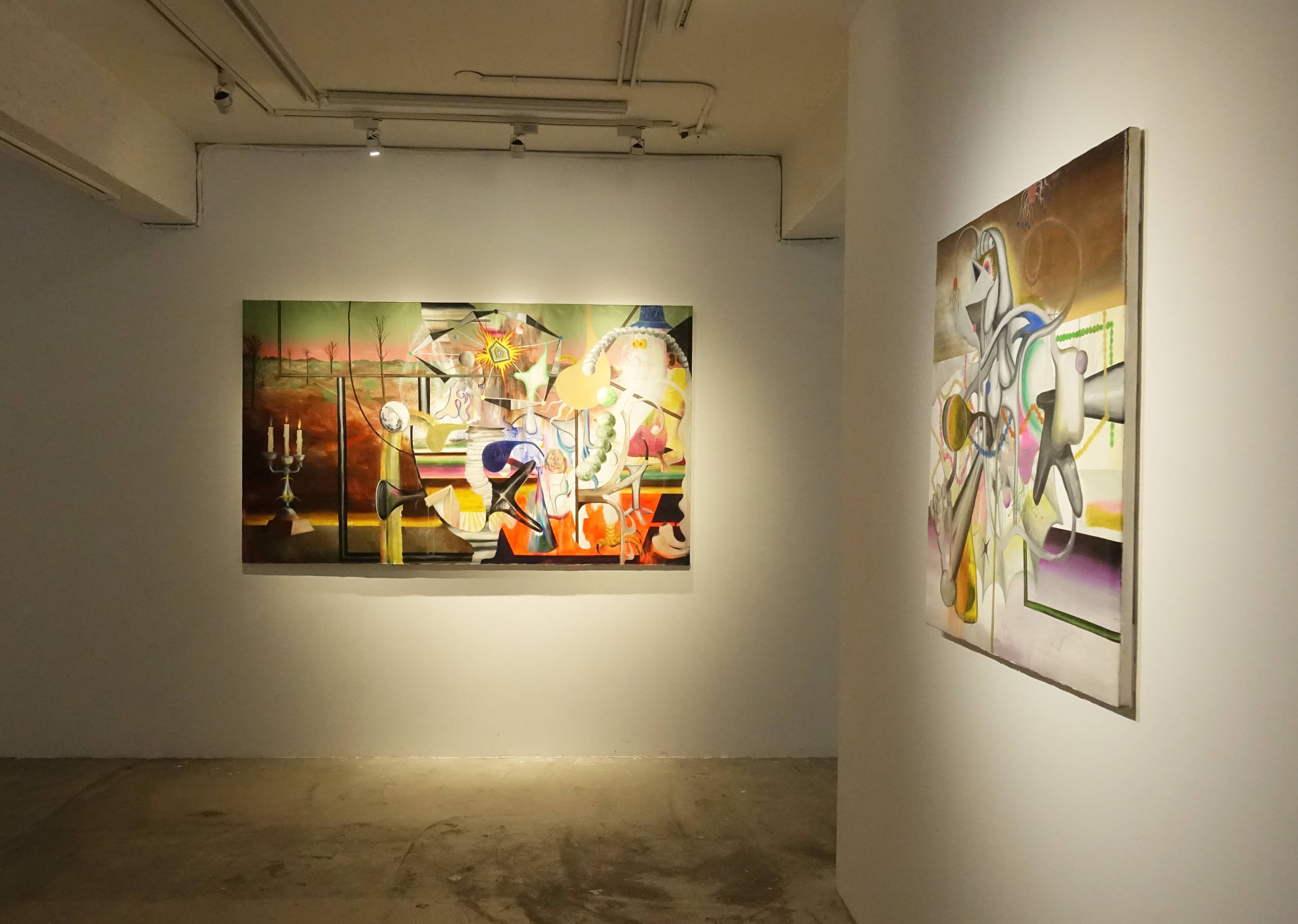 路由藝術基恩・保羅・馬汀「你創造它?它創造自己」展出空間。