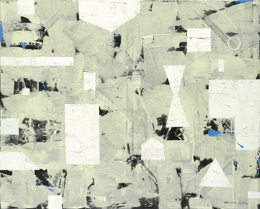 陶文岳 Wen-Yuen Tao  維度空間Dimension Space油彩、畫布 oil on canvas130x162cm2018