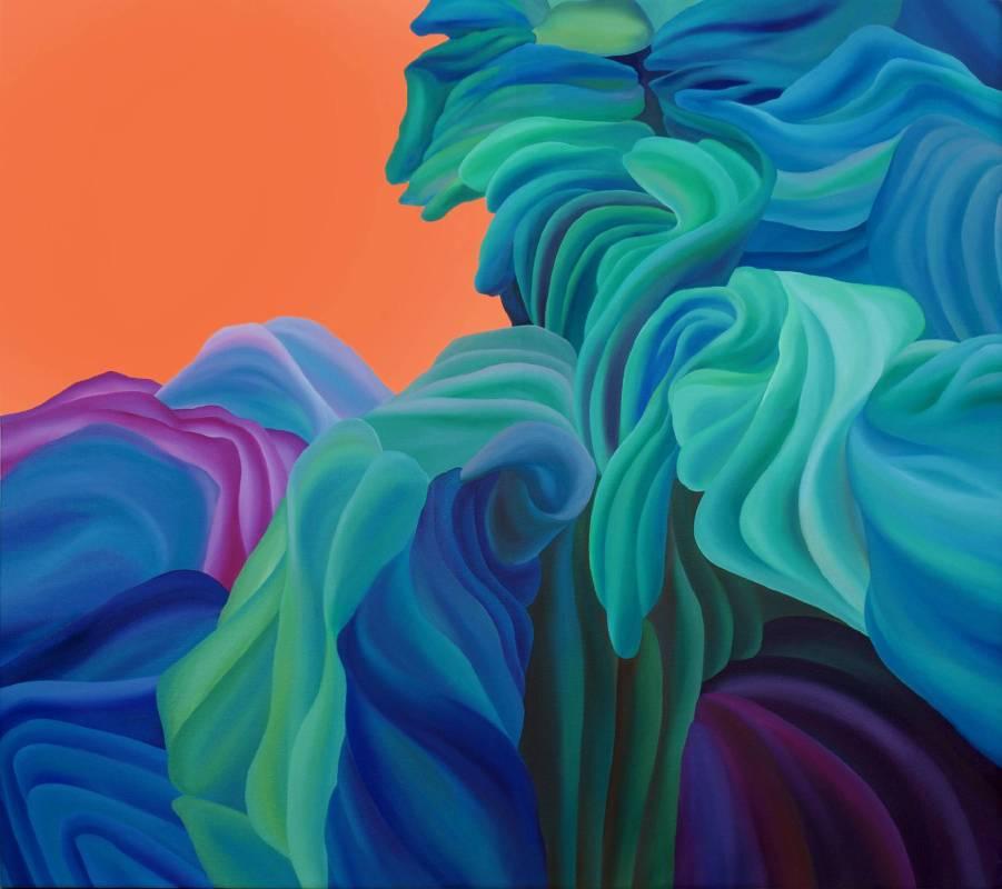 張宗帆 Chung-Fan Chang  西湖之地 Xihu's Land壓克力、油彩、畫布 Acrylic and oil on canvas90x80m2018