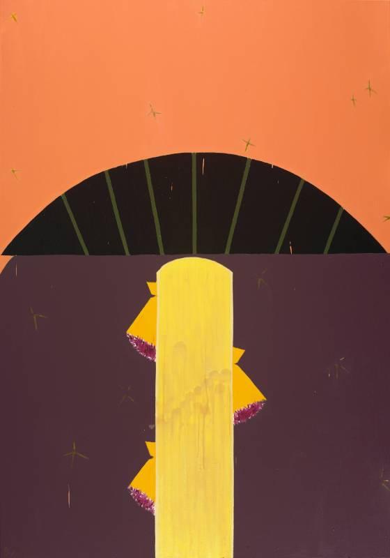 劉永仁 Yung-Jen Liú  呼吸場之 8 Breathing Field 8油彩、蜂蠟、畫布 oil, beeswax on canvas200x140cm2018