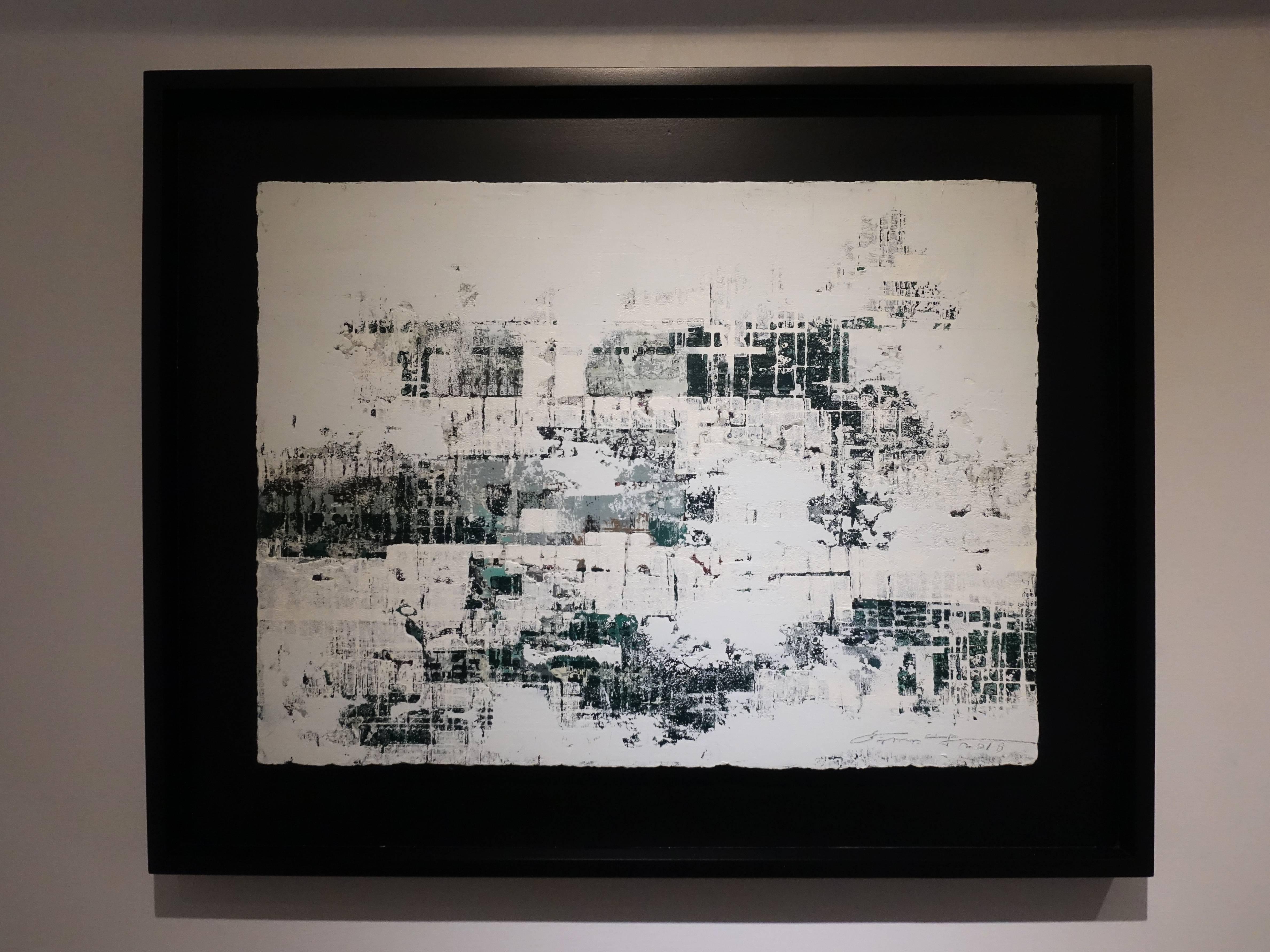 徐明豐,《移動的風景之二》,39 x 51 cm,複合媒材,2018。