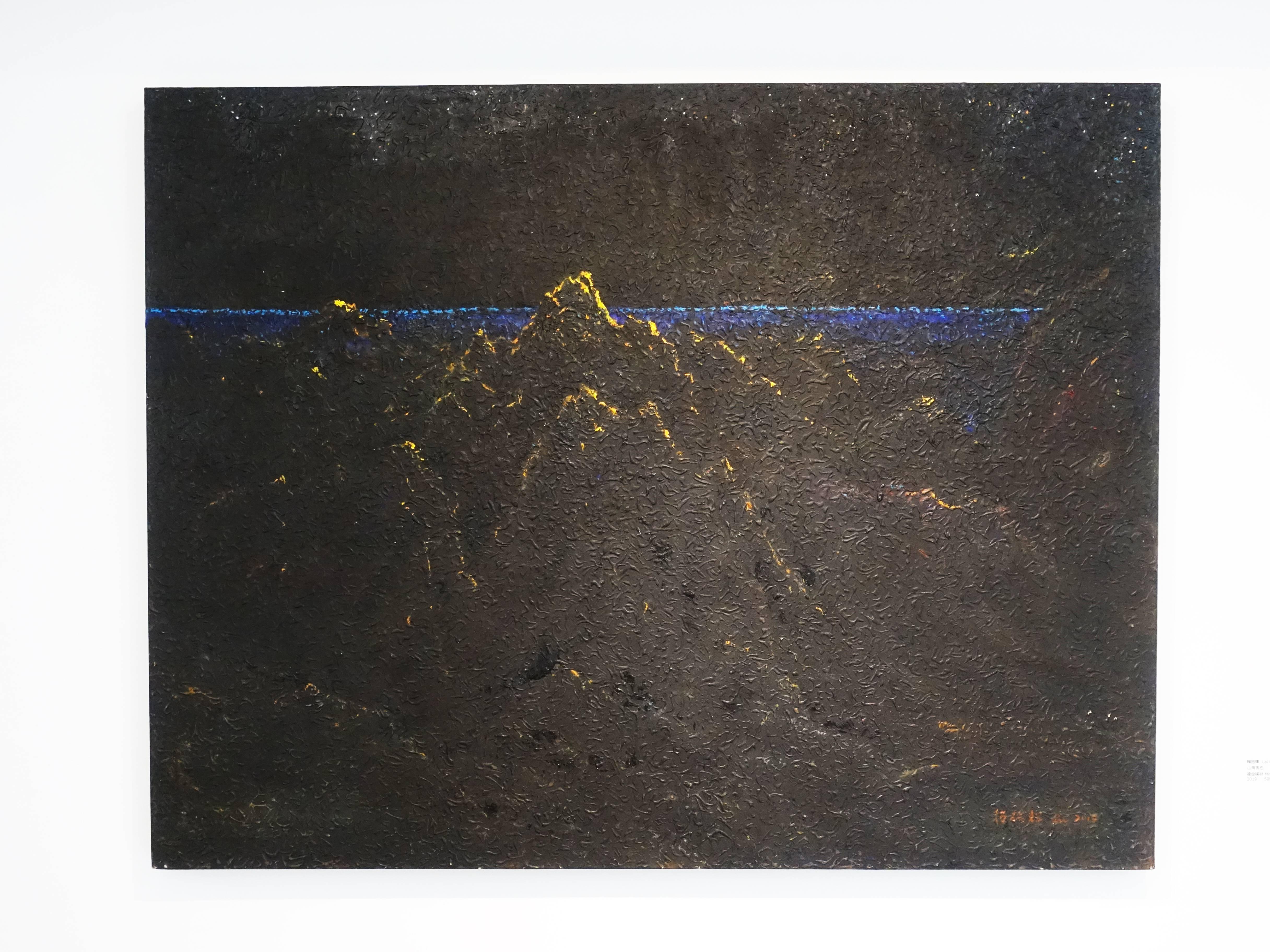賴振輝,《山海夜色》,50F,複合媒材,2019。