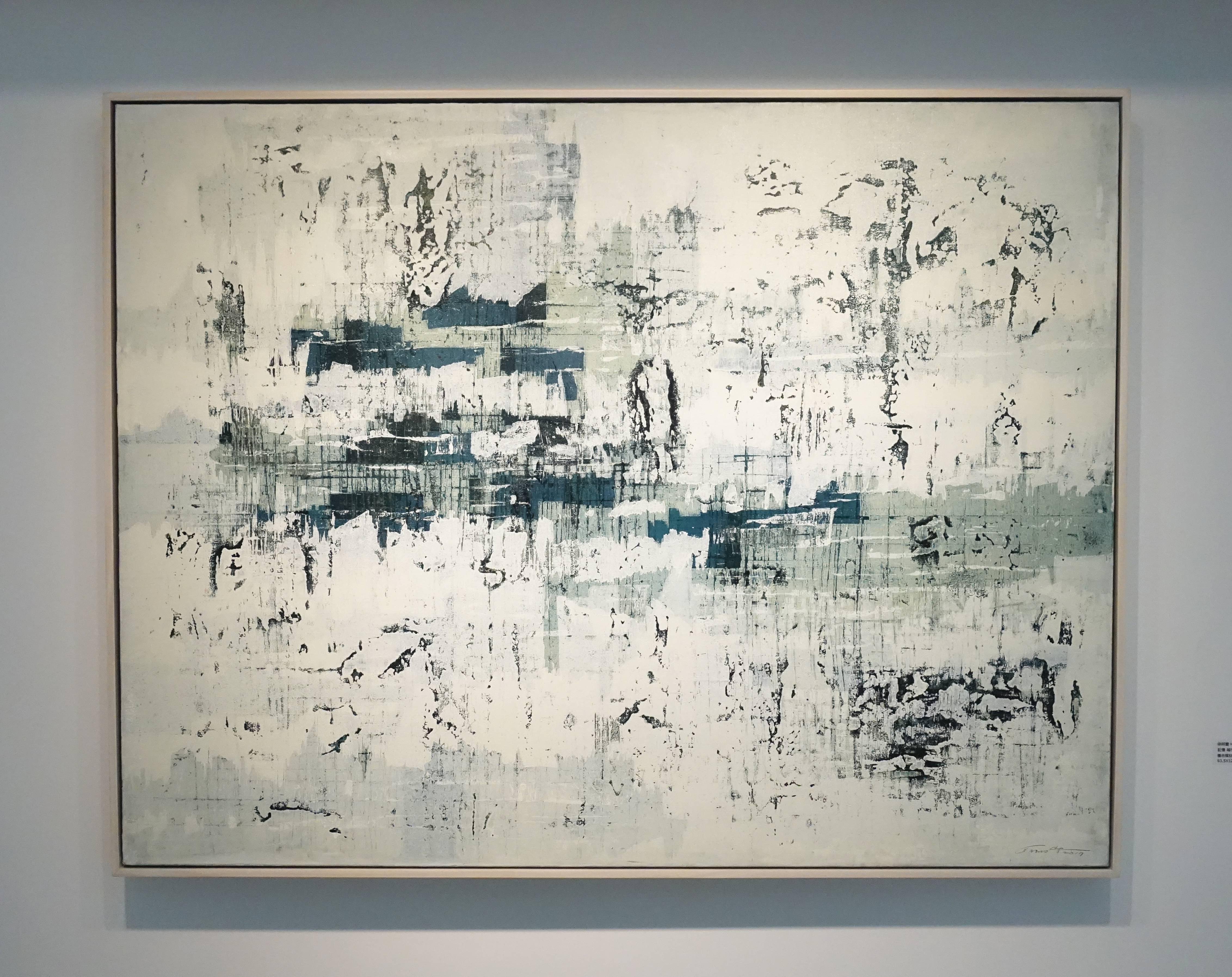 徐明豐,《記憶‧城市之一》,93.5 x 122 cm,複合媒材-畫布,2017。