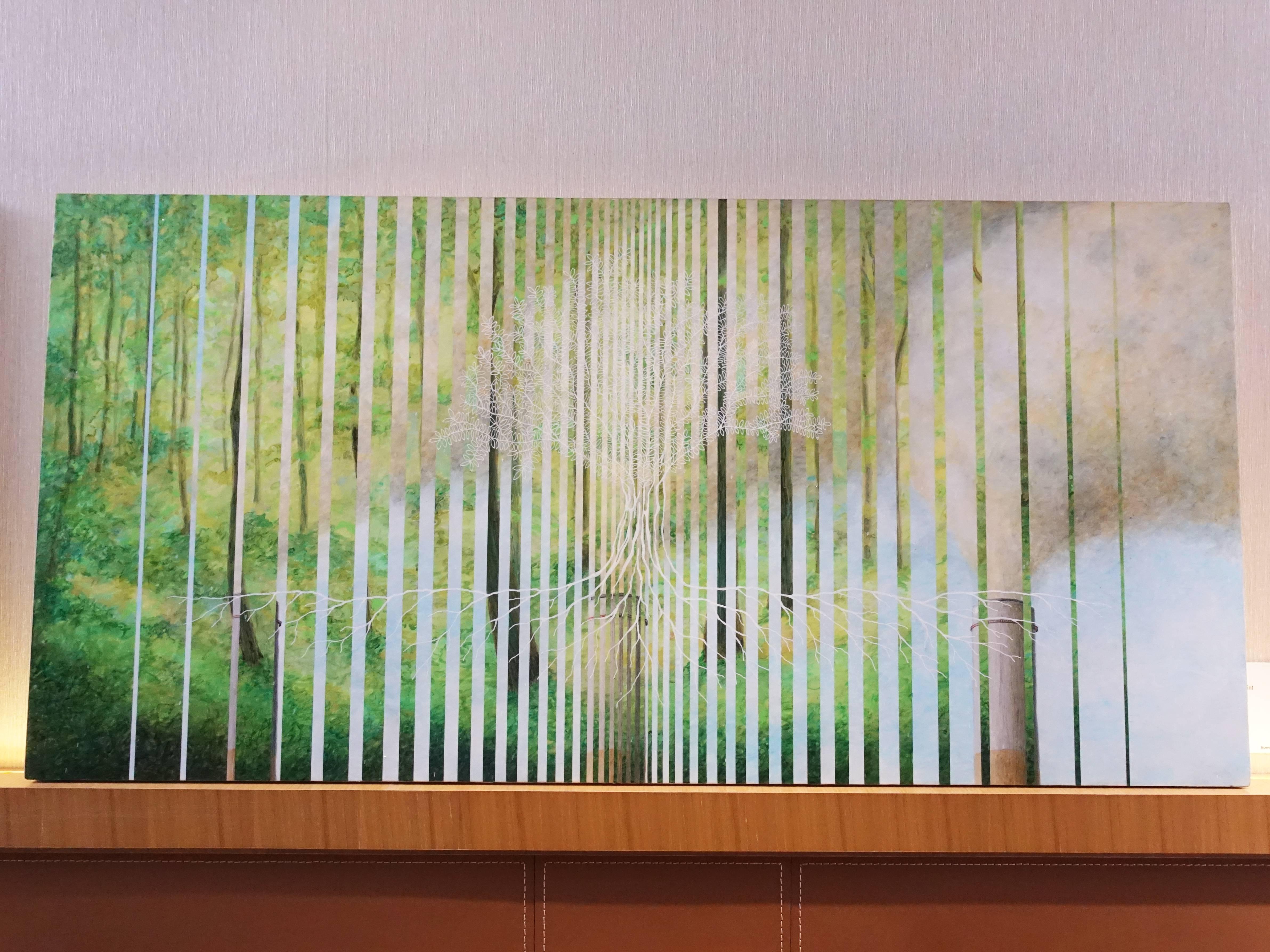 Bluerider ART 藝術家 – Bryan Lda,《Balance point》,59 x 120 cm,Acylic on panet,2018。