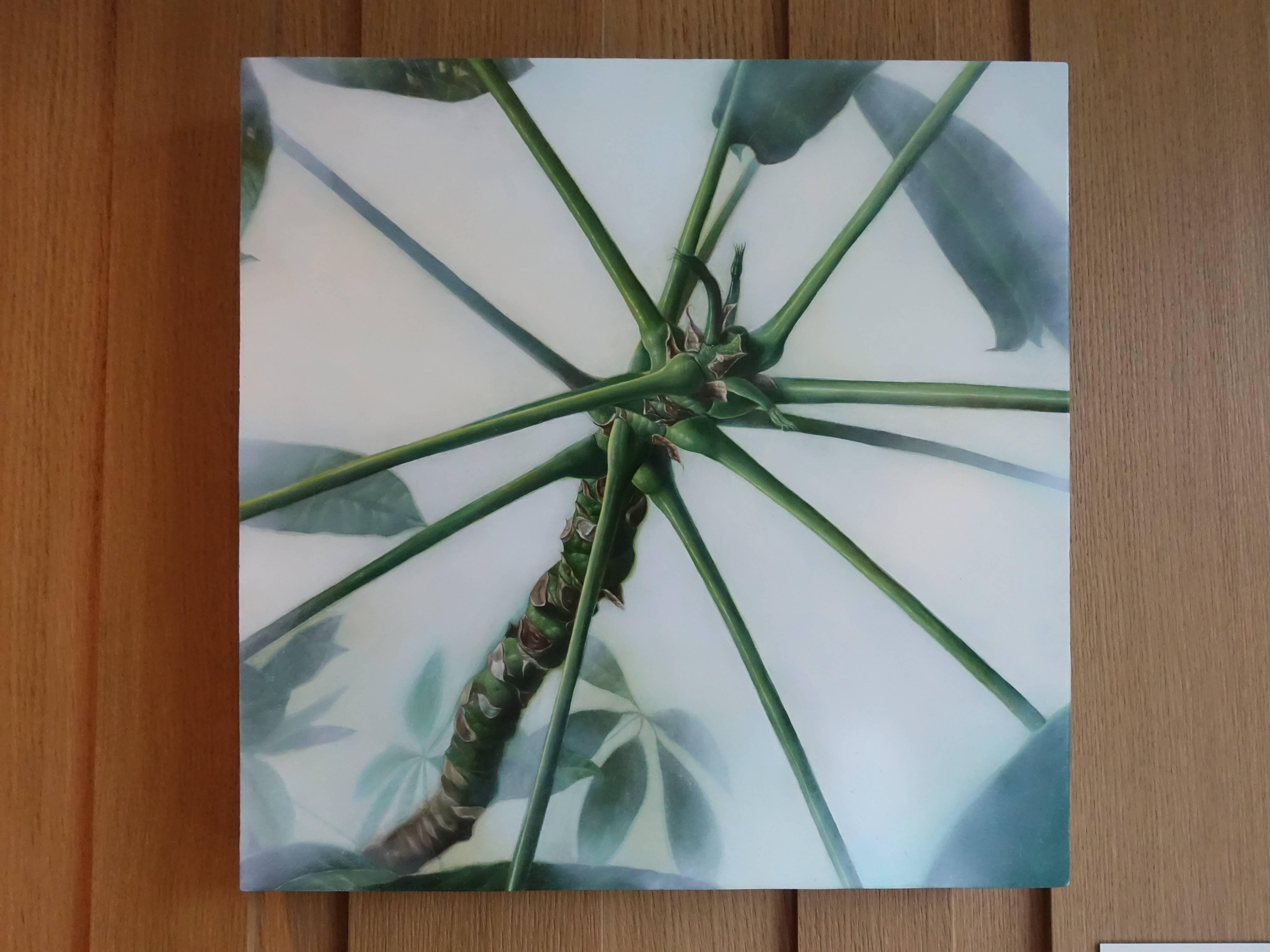 大觀藝術空間藝術家 - 顏群,《座標與形狀-1》,40 x 40 cm,油彩、畫布,2018。