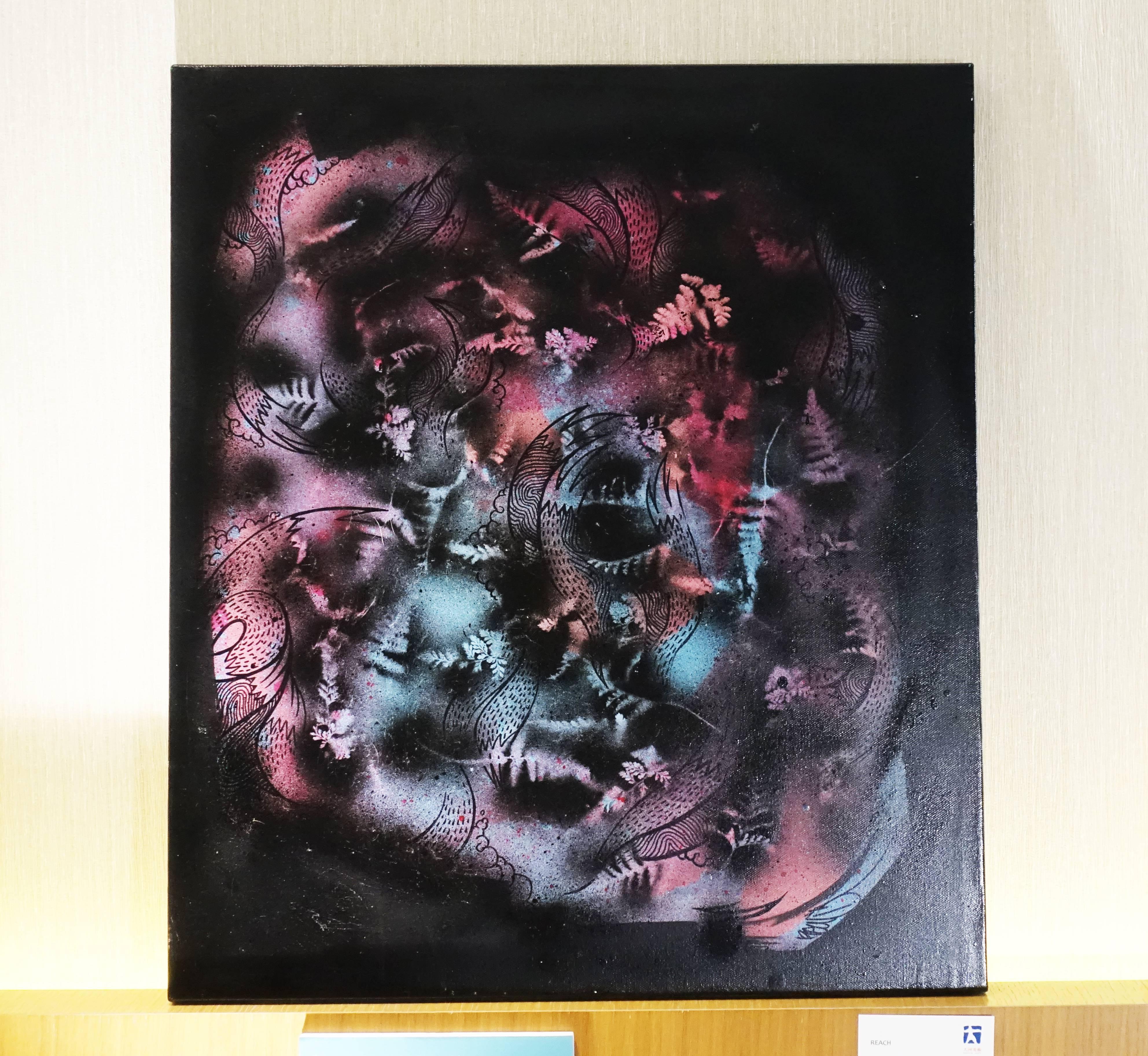 REACH,《STARS》,53 x 45 cm,壓克力、水性漆、噴漆於畫布,2008。