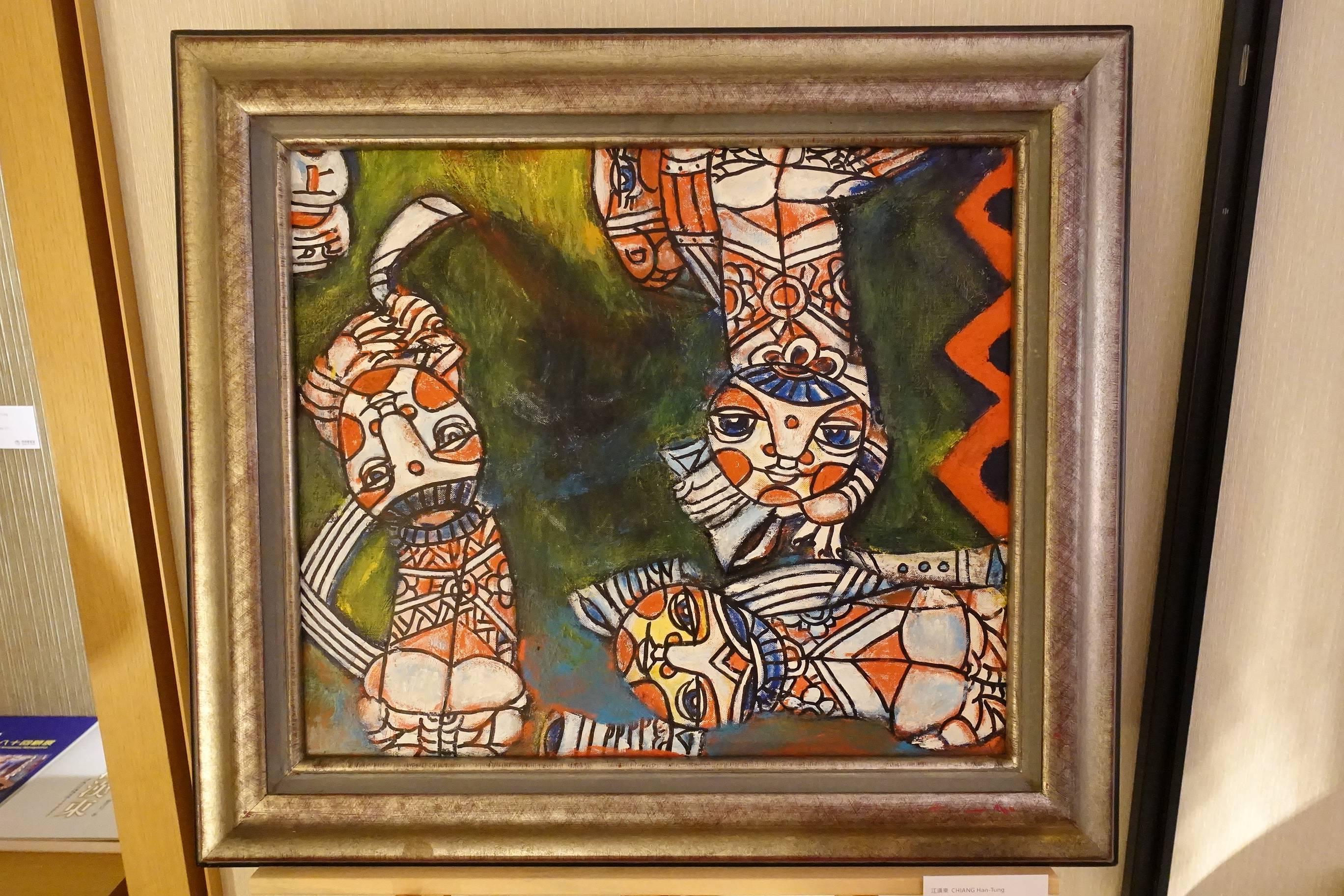 阿波羅畫廊藝術家 - 江漢東,《鳴春》,45.5 x 53 cm,油彩、畫布,1996。