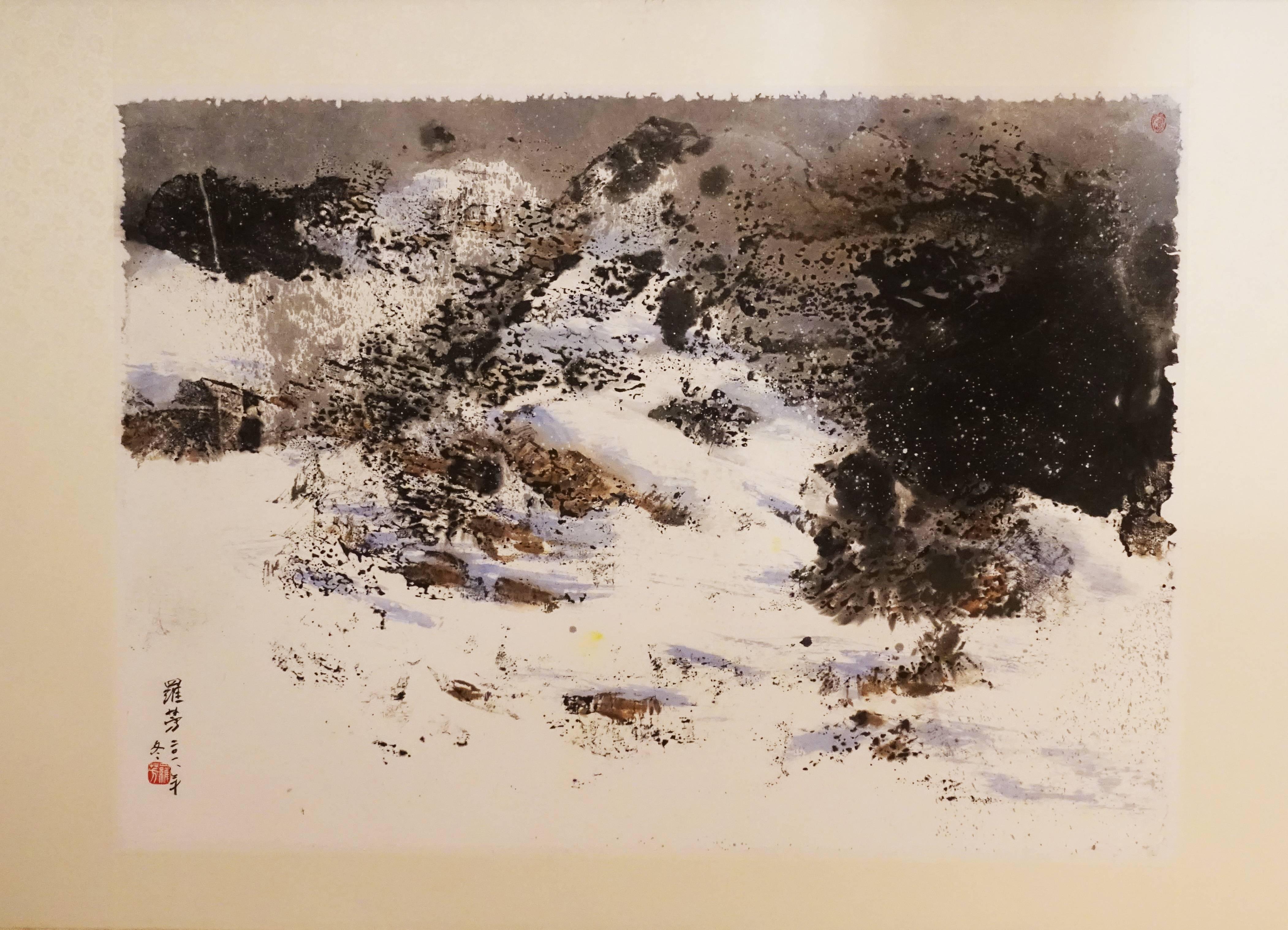 藤藝廊藝術家 - 羅芳,《銀妝》,85 x 60 cm 。