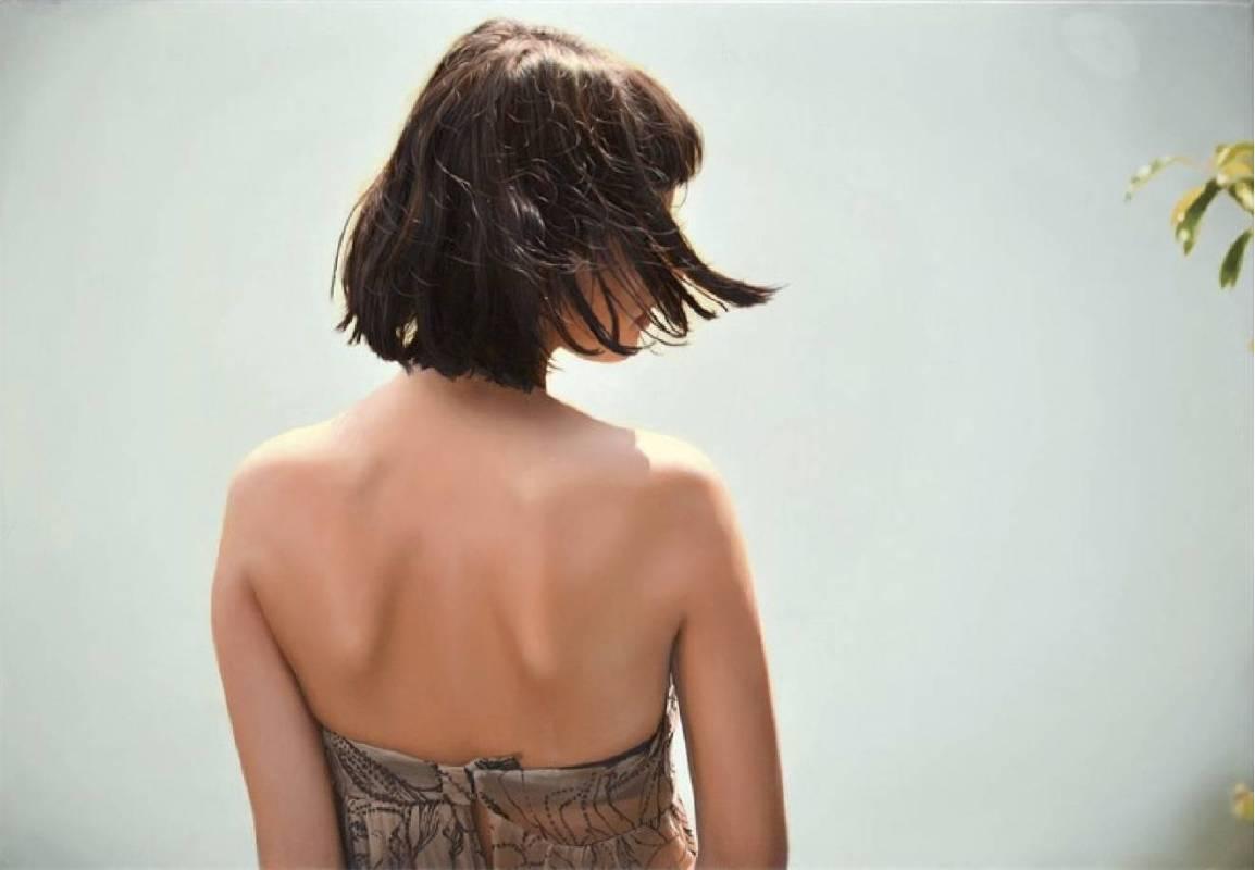 伊格・歐瑟瑞 Yigal Ozeri, 無題;奧麗雅 Untitled_ Olya, 2014, 油彩畫布 Oil on canvas, 50.8 × 76.2cm。圖/白石畫廊提供