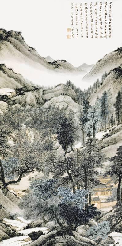 張崟 1824 洞霄宮圖