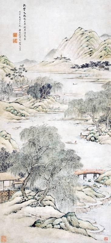 潘思牧 1836 湖庄清夏圖