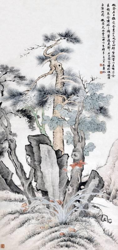 潘恭壽 1791 倣白陽花卉