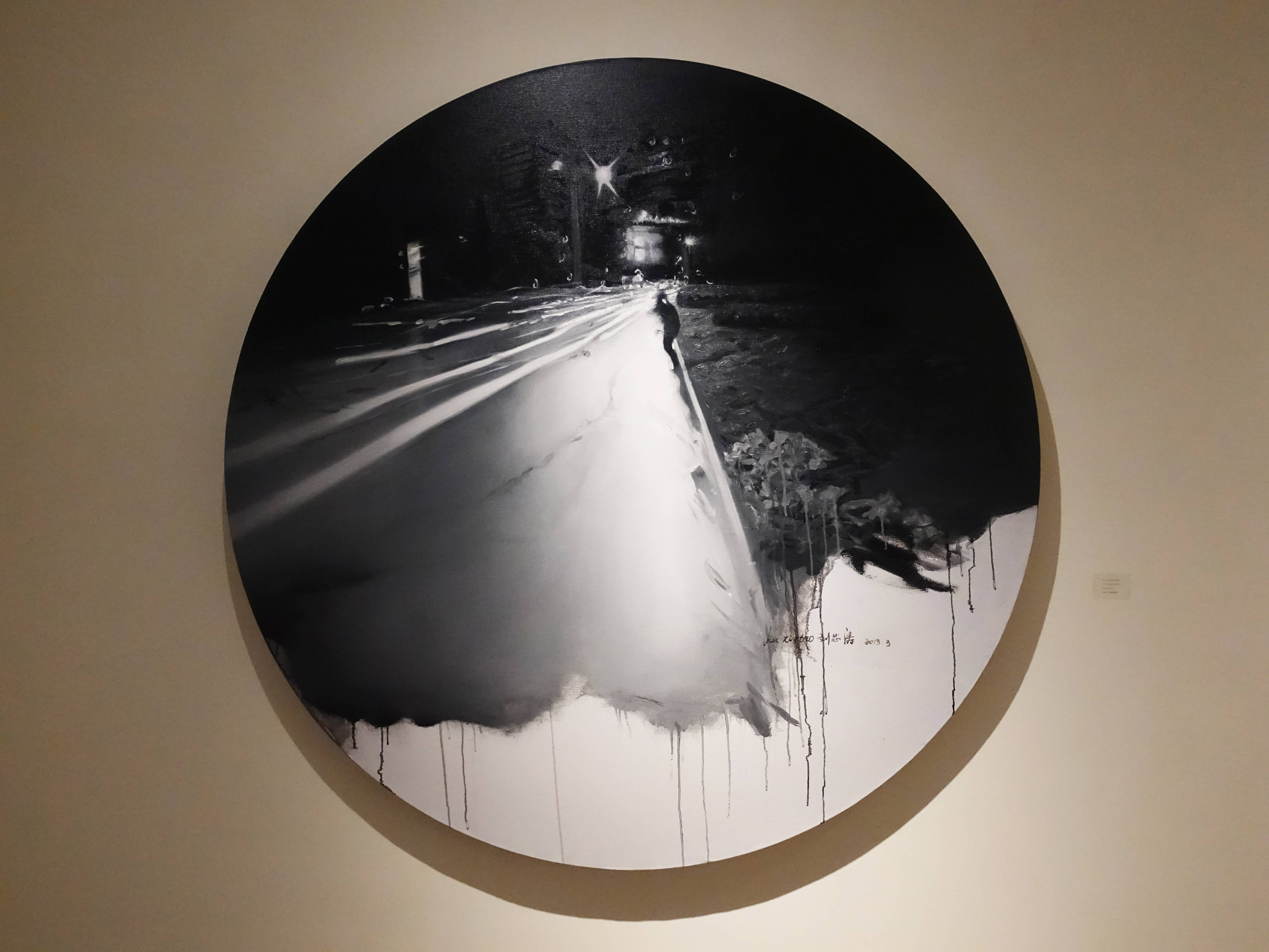 劉芯濤,《望京的夜晚》,150 x 150 cm,布面油畫,2013。
