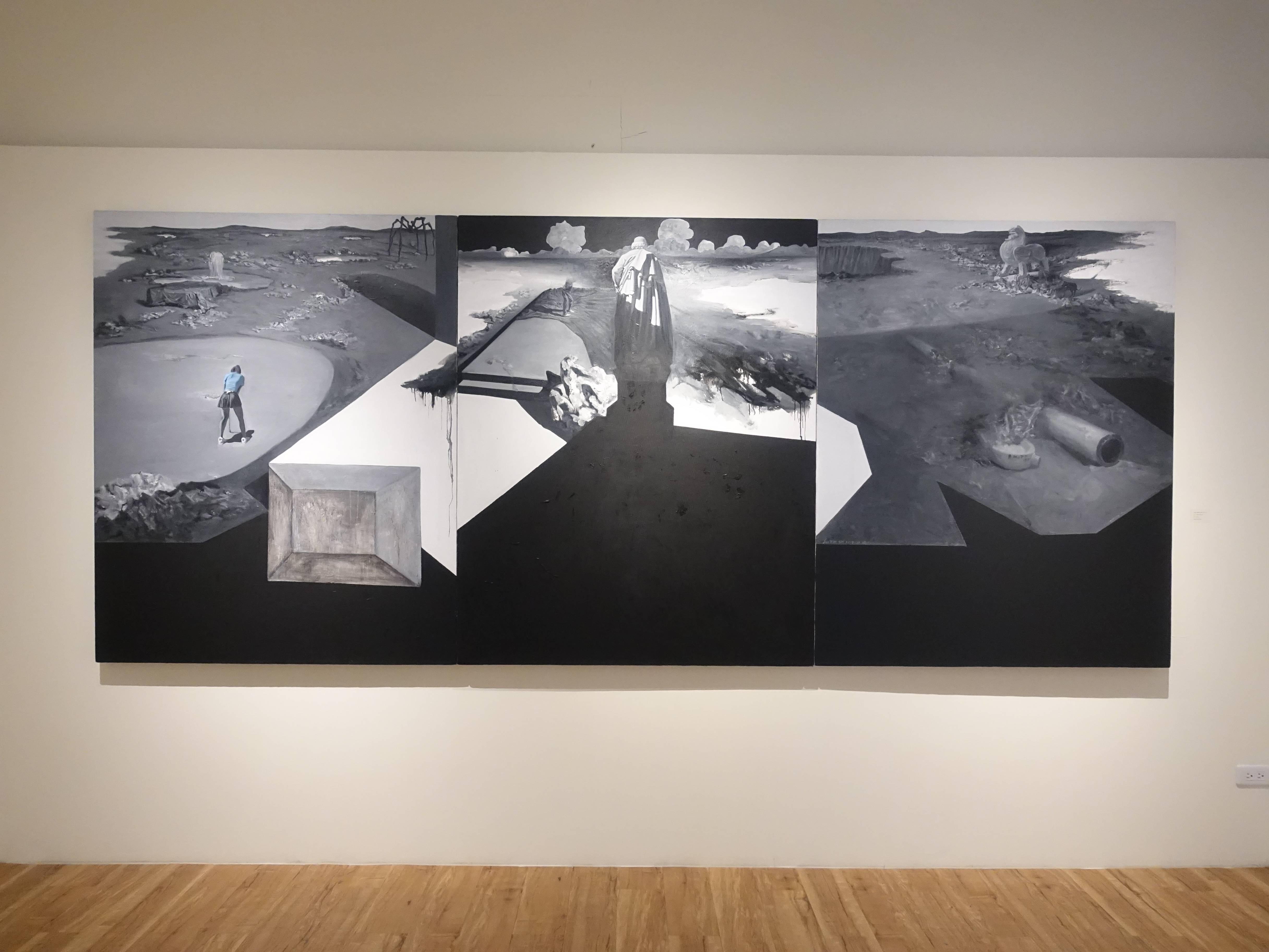 劉芯濤,《無邊的風景2018-2》,150 x 360 cm,布面油畫,2018。