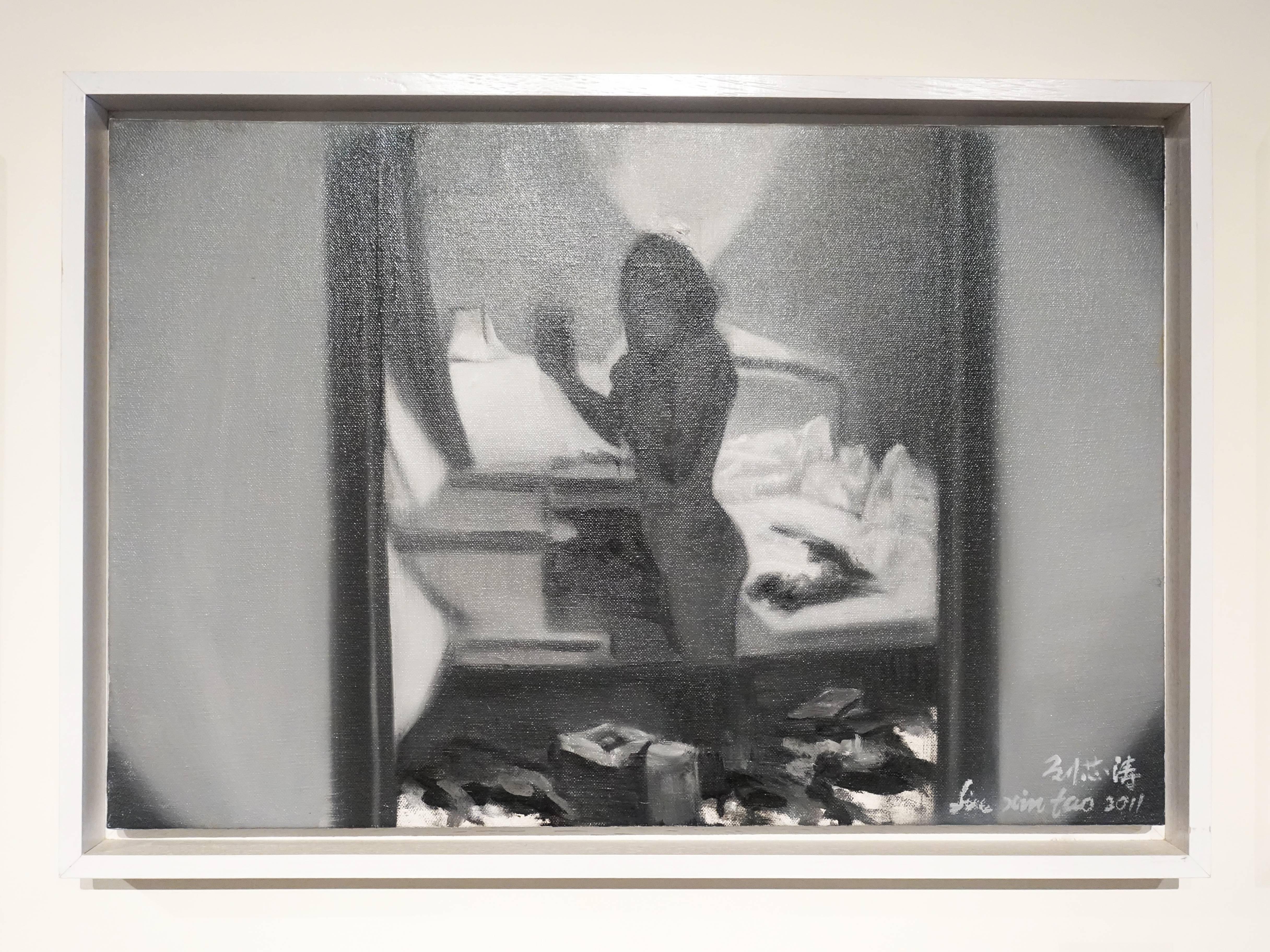 劉芯濤,《2010作品1》,60 x 40 cm,布面油畫,2017。