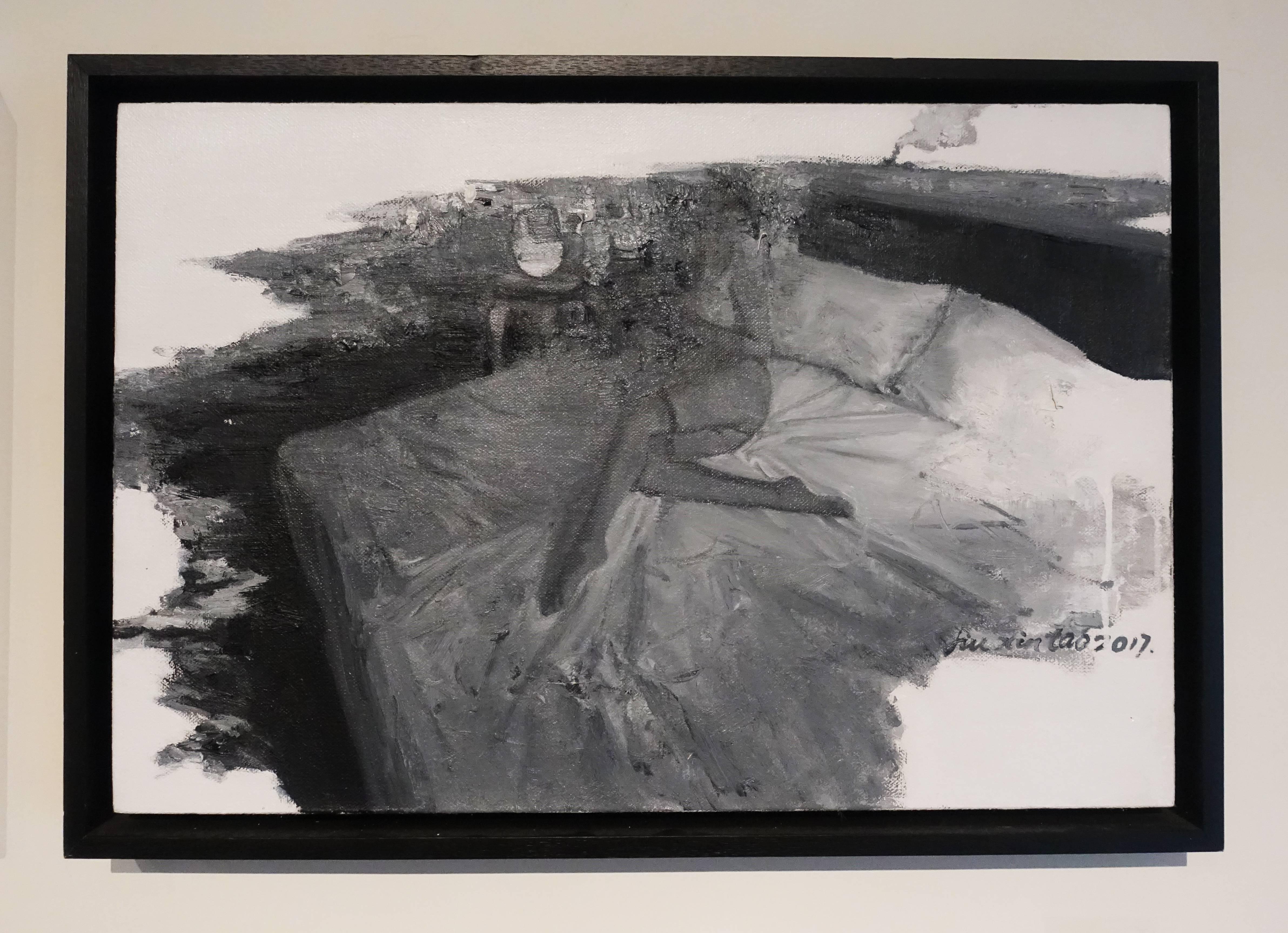 劉芯濤,《床》, 40 x 60 cm,布面油畫,2017。
