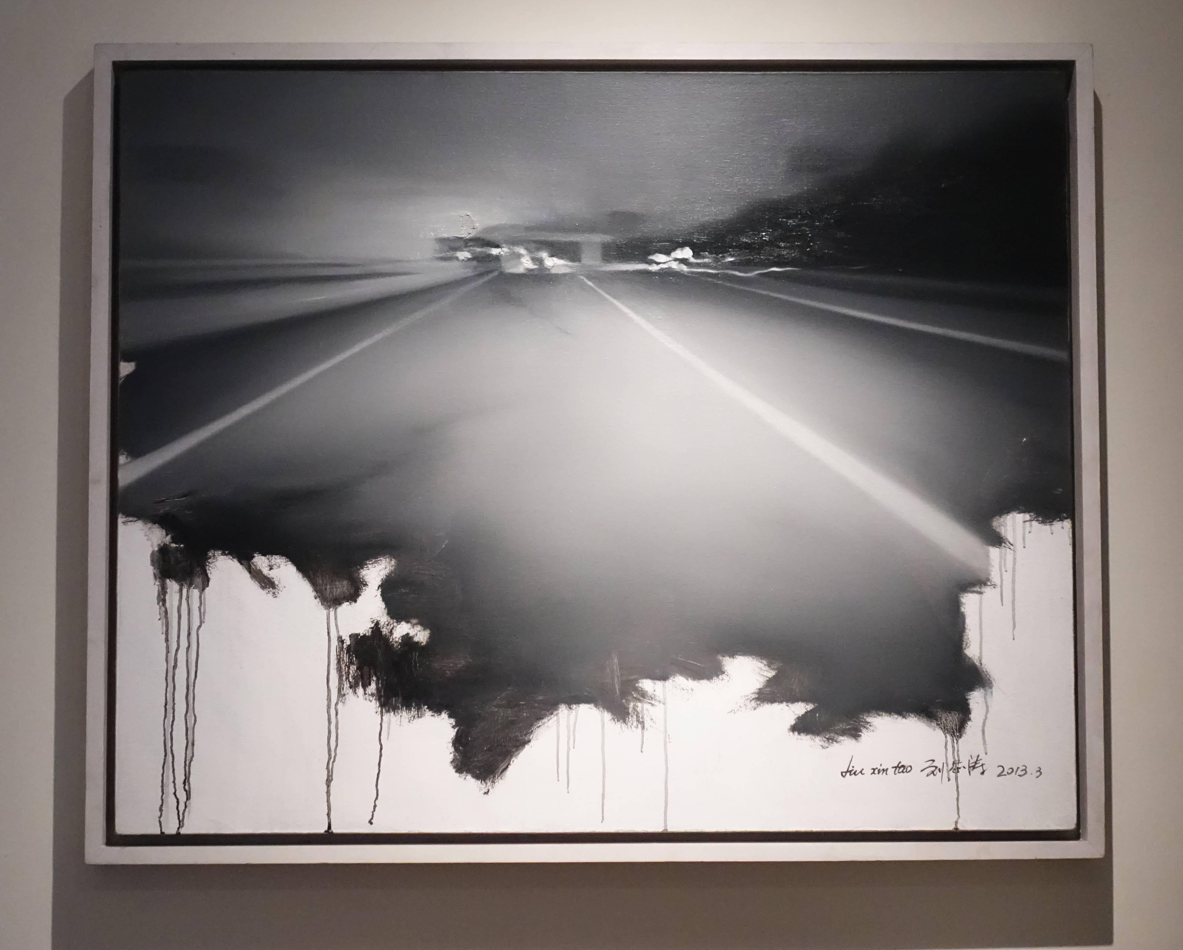 劉芯濤,《在路上之三》,100 x 80 cm,布面油畫,2013。