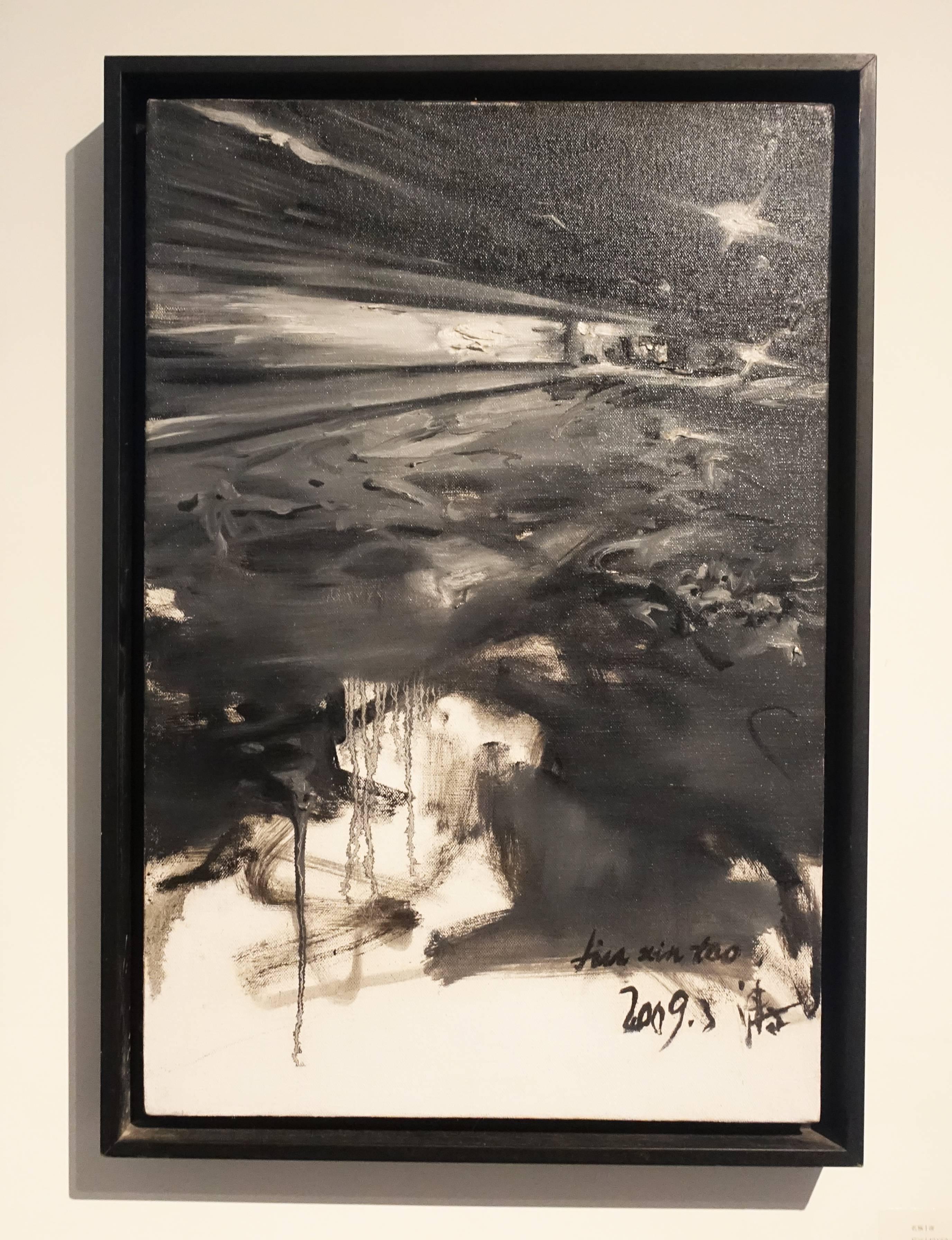 劉芯濤,《夜》,40 x 60 cm,布面油畫,2009。