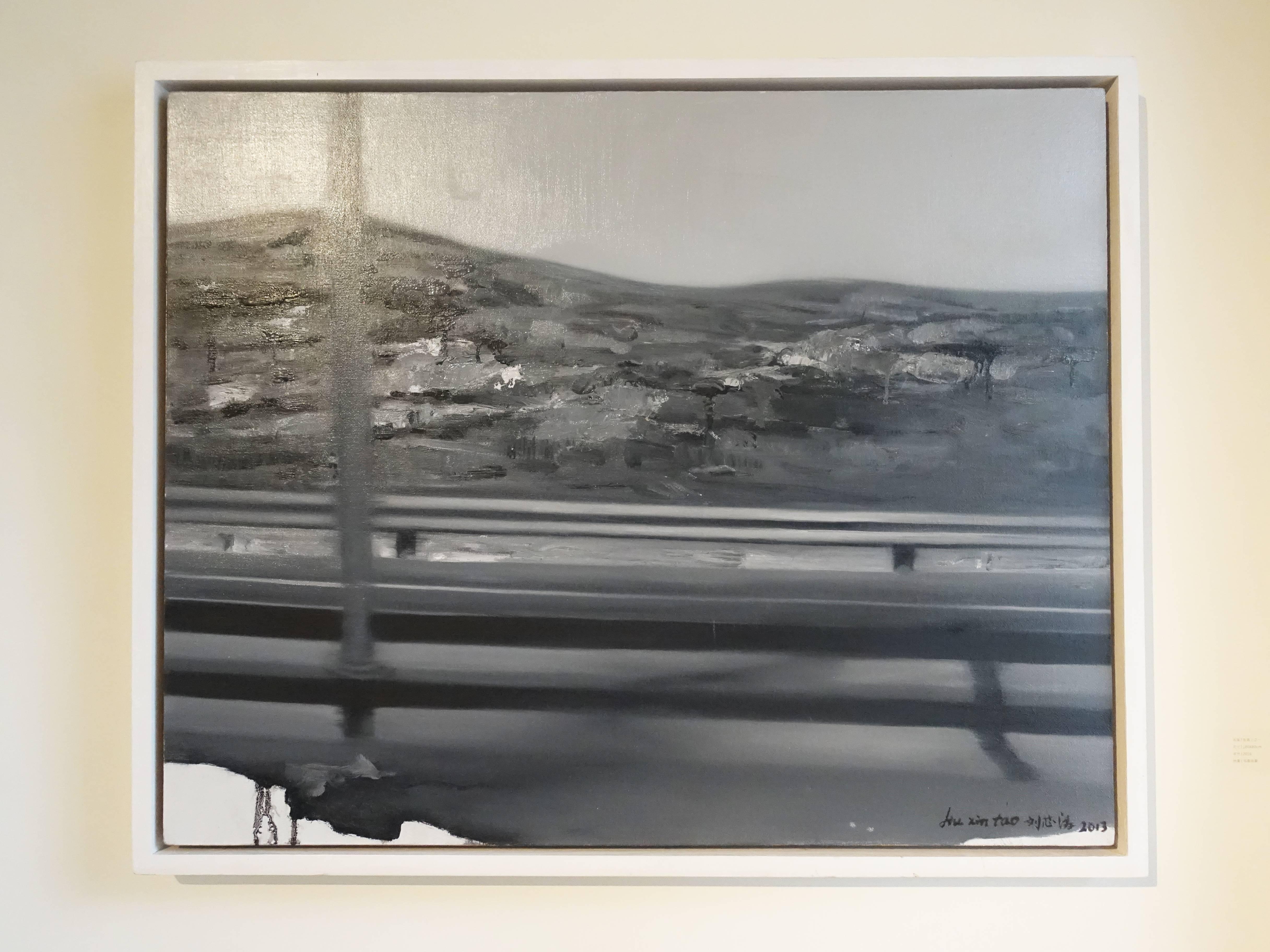 劉芯濤,《在路上之一》,100 x 80 cm,布面油畫,2016。