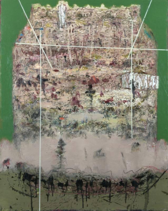 〈林中路–風鼓起了衣袖〉 91 x 72.5cm