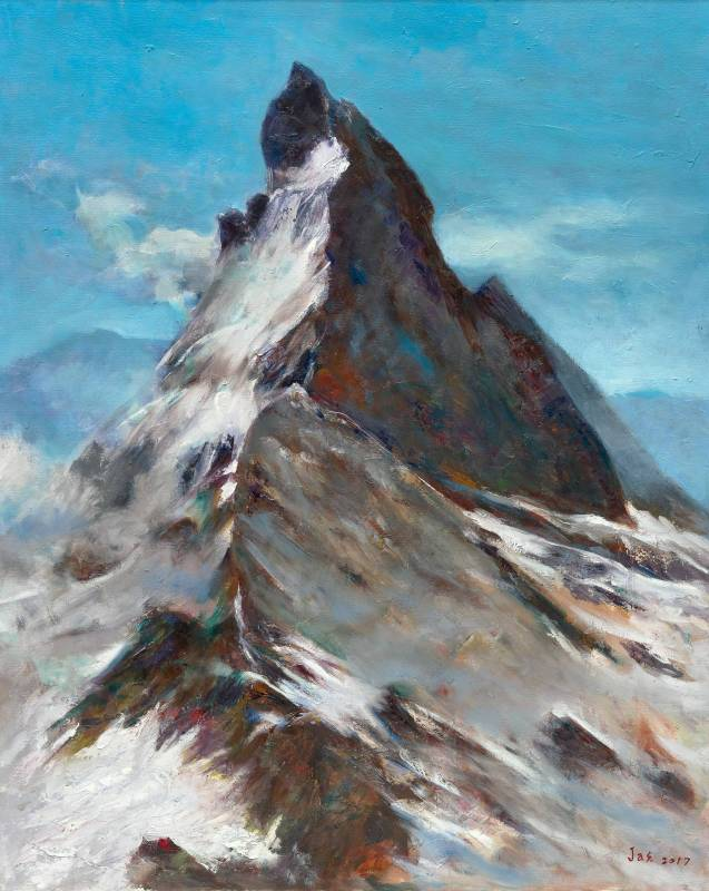 聳立|100×80 cm(40F)|油畫|2017