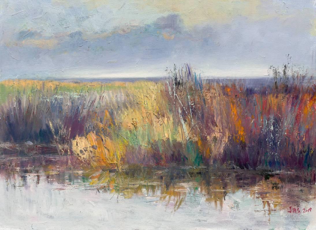 和風照青芒|53×72.5 cm(20P)|油畫|2019