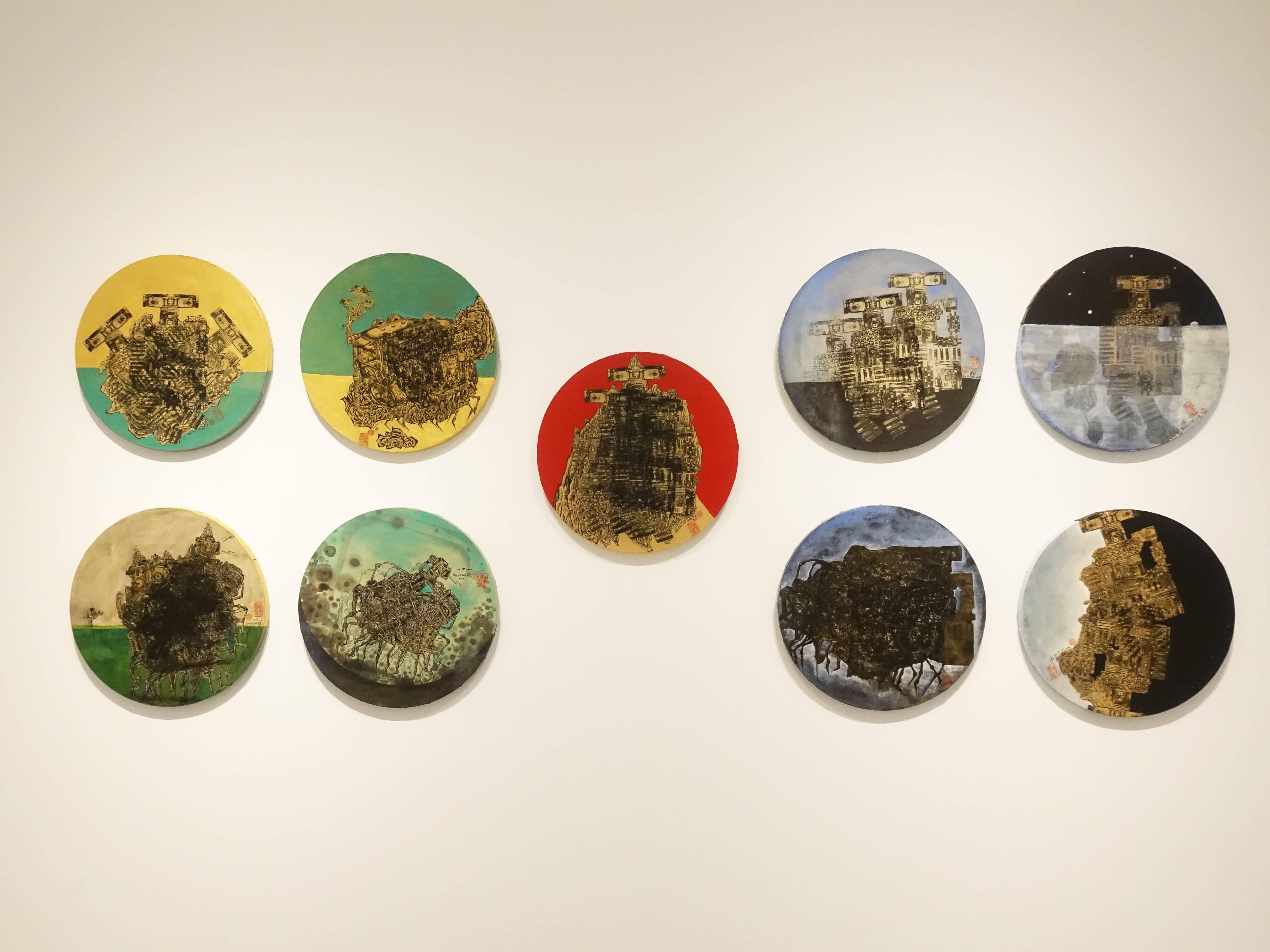 葉慧琪展出作品「機械群」系列作。