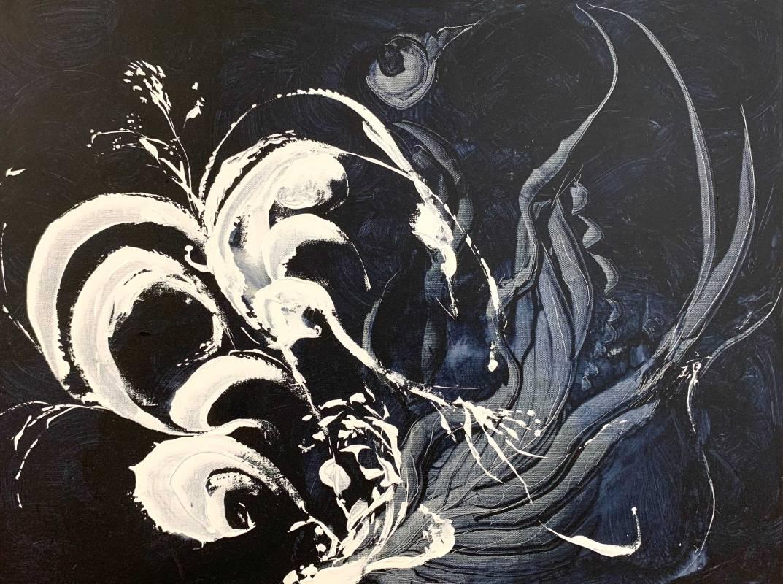 曇, 壓克力、畫布, 50x65cm (15P), 2017