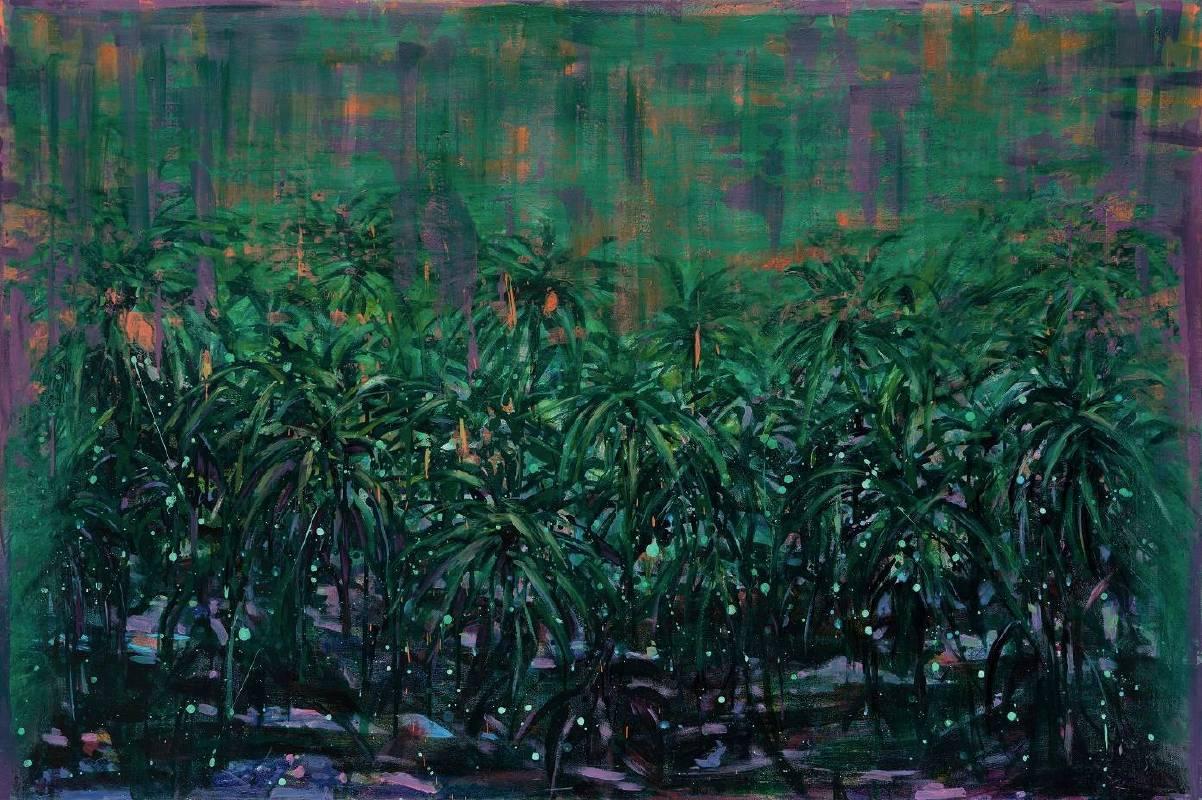 浮光森林5     壓克力彩、畫布    100×150cm 2019