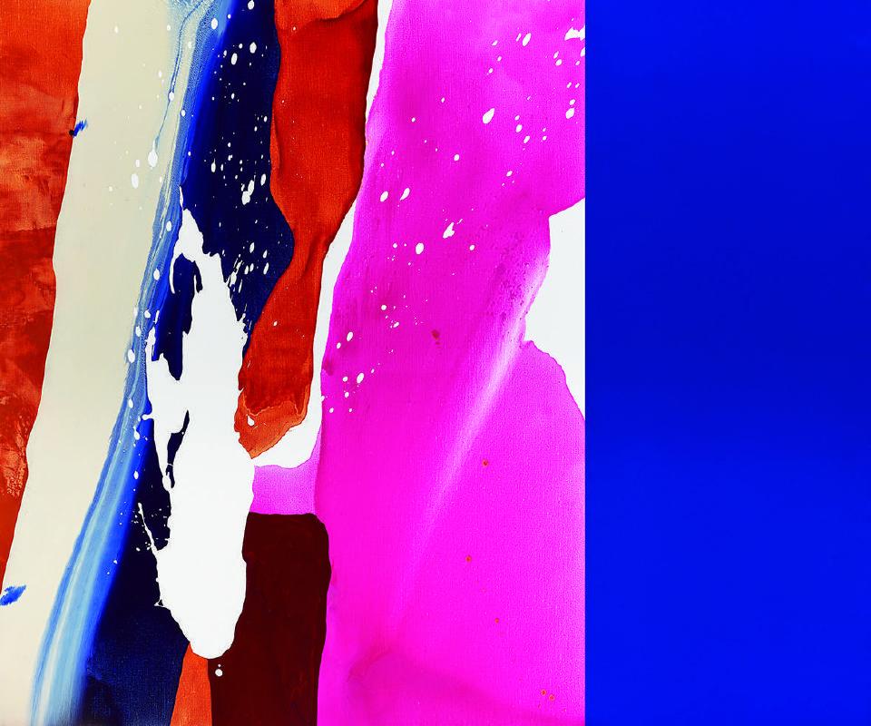 位離D1811 Dislocation D1811 | 2018 | 壓克力、麻布 Acrylic on Linen 162×195cm (162×130+162×65cm) 兩件一組