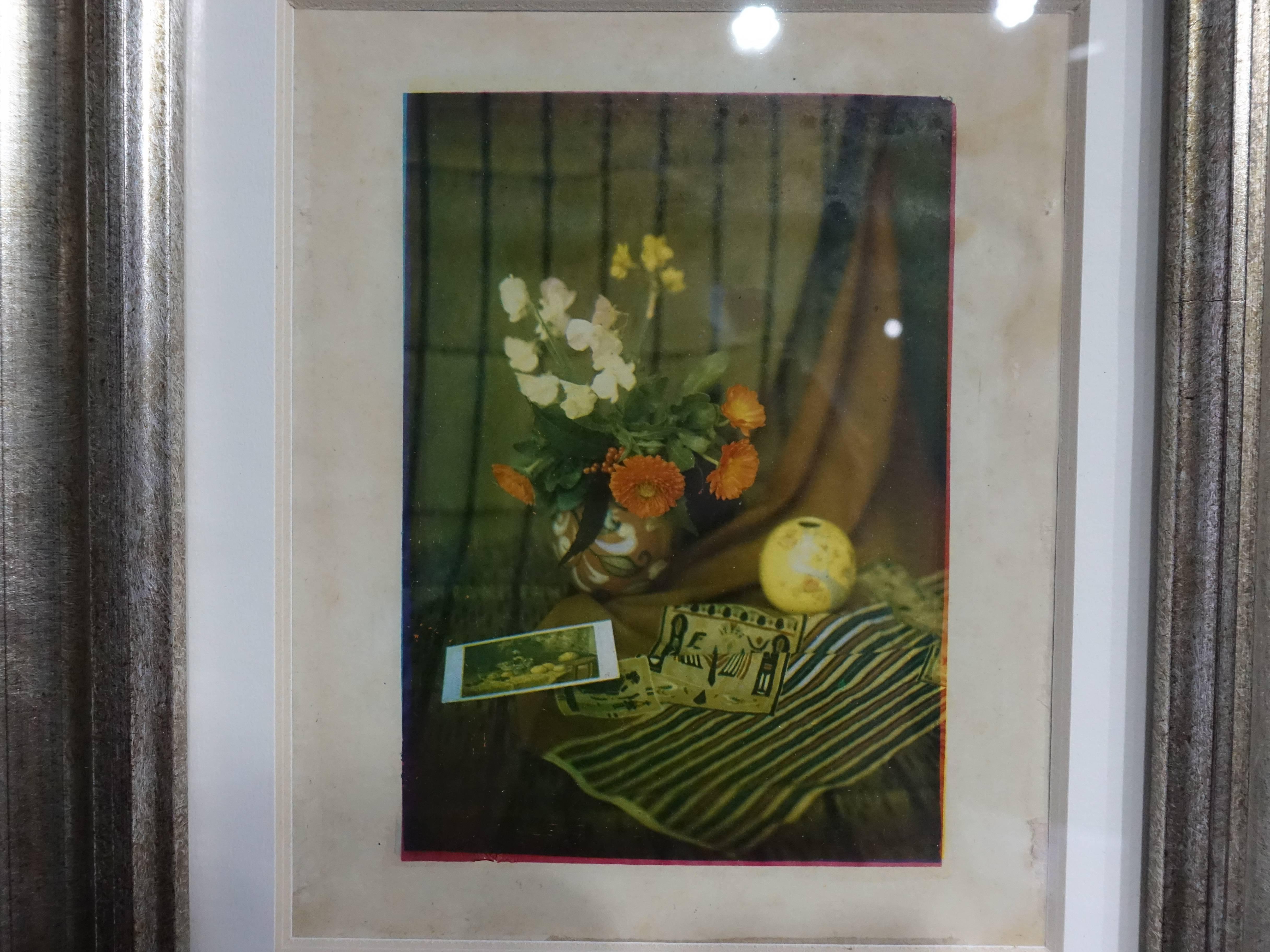 彭瑞麟,《靜物》,40x35 cm,三色轉染法製作的彩色寫真,1930。