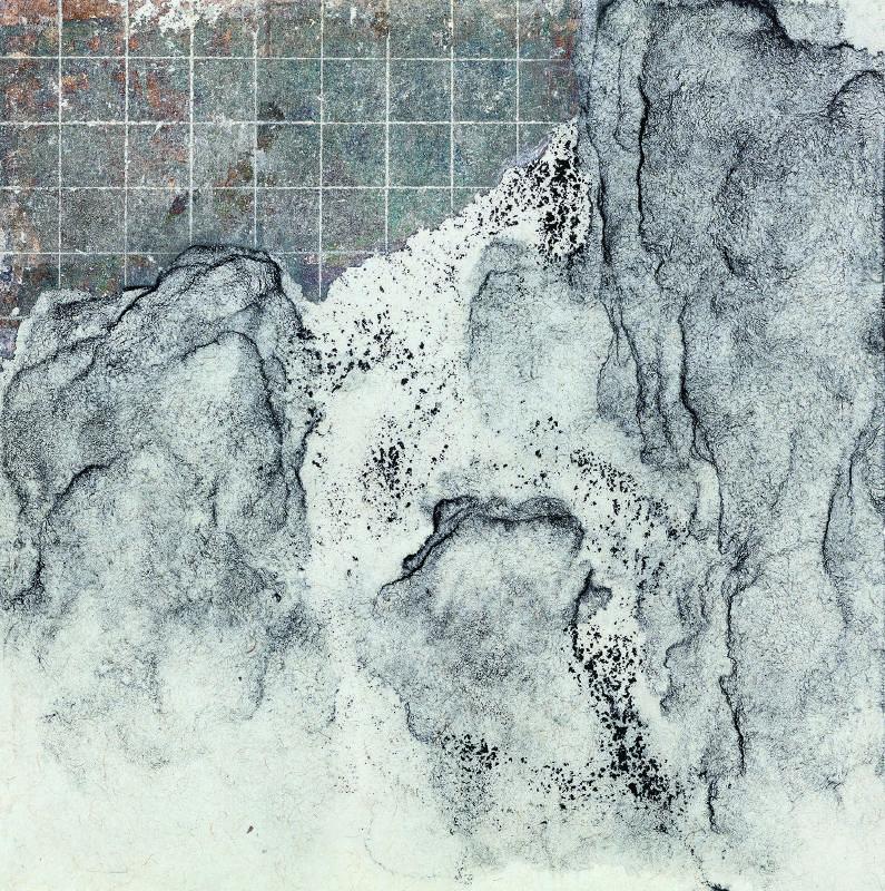 王紹強 Wang Shaoqiang 通光之四 Uncover Light 04水墨綜合材料 Integrated Media35×35cm2018