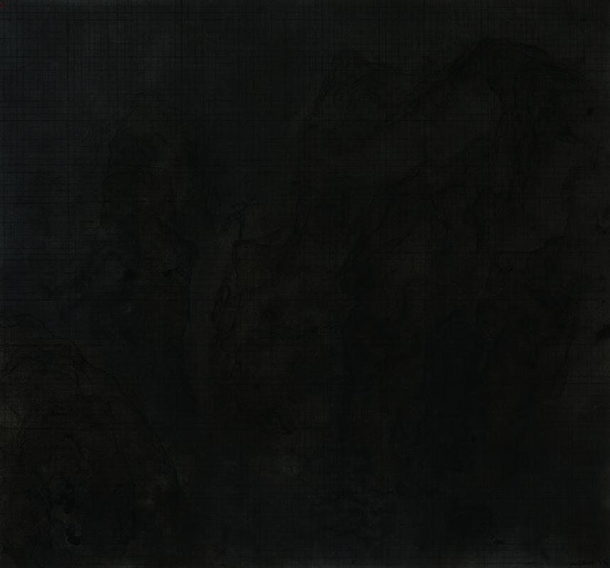 王紹強 Wang Shaoqiang 亥時九川之四 River after Nightfall 04紙本水墨 Paper Ink89×96cm2019