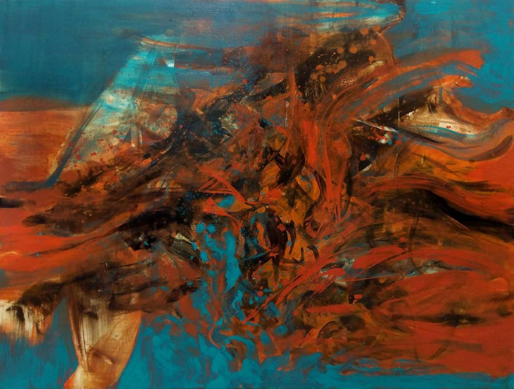 周宸 Chou Chen / 戊戌季冬廿七 20180201 油畫 oil on canvas 116.5x91 cm 50F 2019