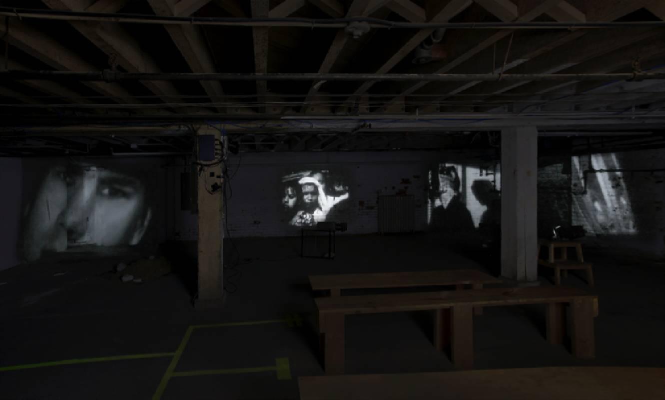 錄像藝術大師蓋瑞.希爾(Gary HILL)來臺展出。作品〈盆景的緩慢扭矩 (The Slow Torque of Bonsai)〉,2017年紀錄,圖片由藝術家提供。