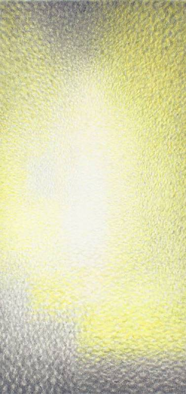 """王舒野 WANG ShuYe """"下樓梯的裸女""""的時空裸體・即(128) A Certain Space Time Nude of Nude Descending a Staircase : Identical (128)墨、水彩、楮紙 Ink and Watercolor on kozogami Paper201x96cm2019"""