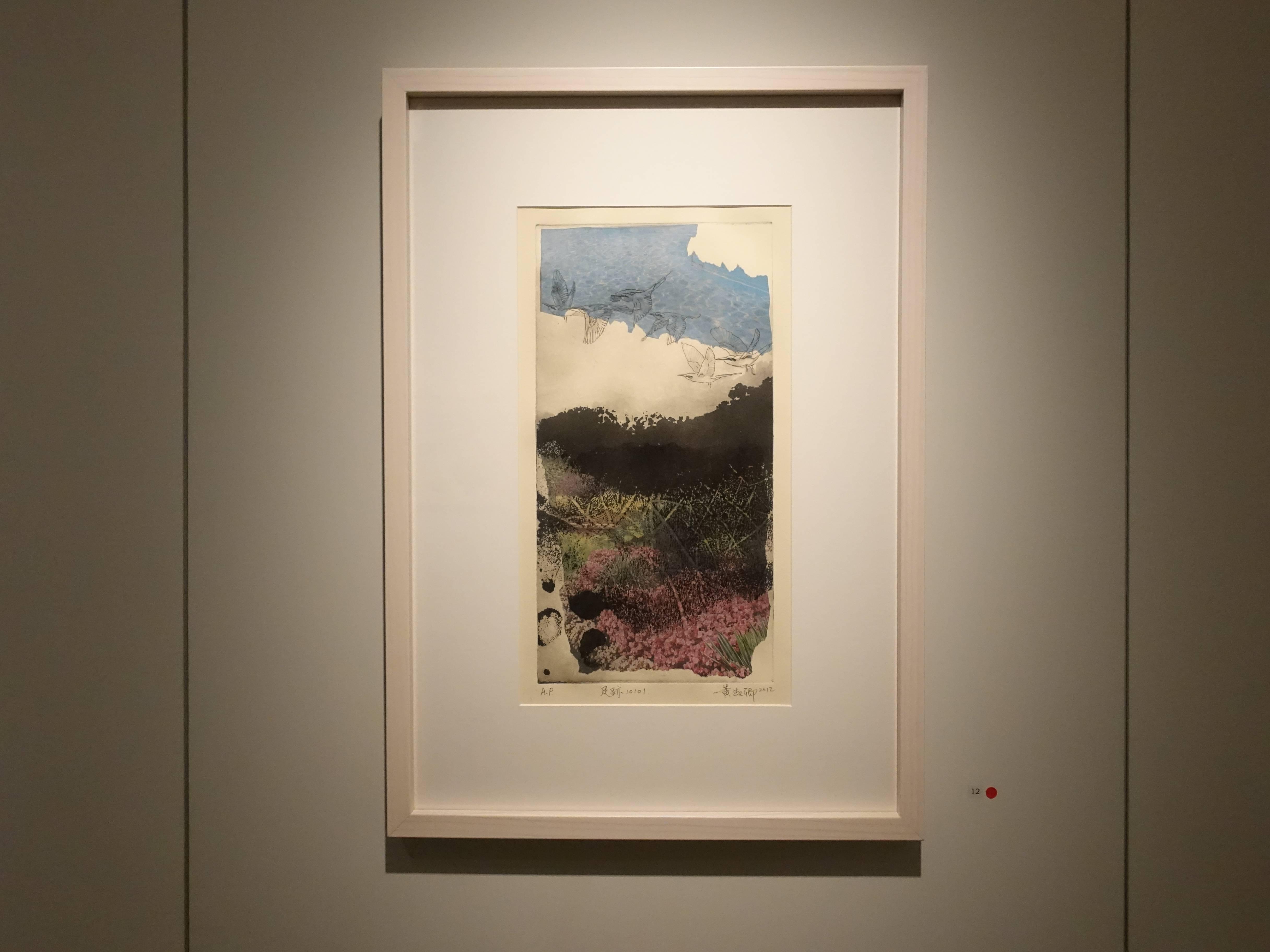黃淑卿,《足跡10101》,68 x 48 cm,感光樹脂版,2012。