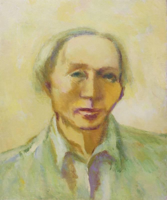 陳德旺 自畫像 1983-84年 45.3x38cm 油彩.畫布