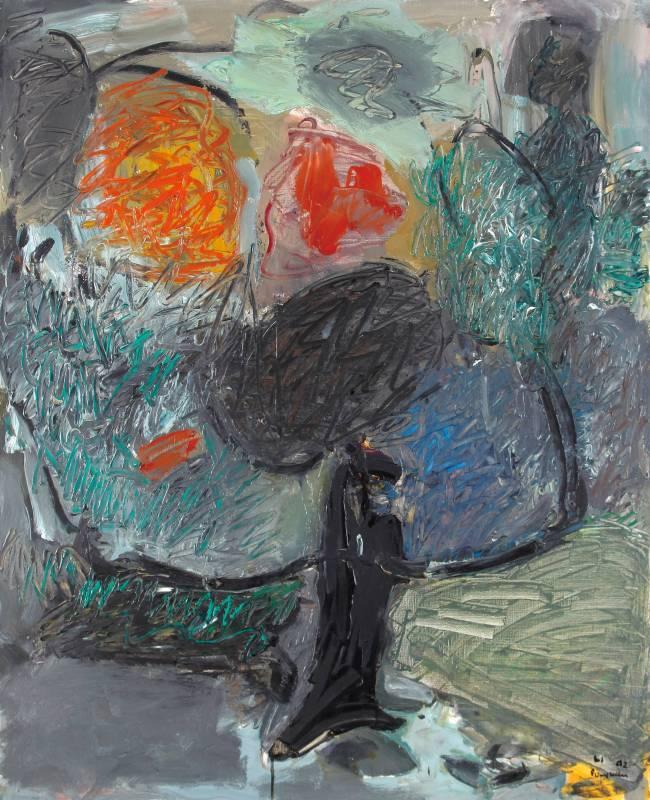 李伯元_一棵大樹_100X81cm油畫畫布1992 巴黎