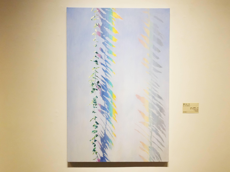劉韋岑,《藤影-虹、霓》,80x53cm,油彩、畫布,2019。