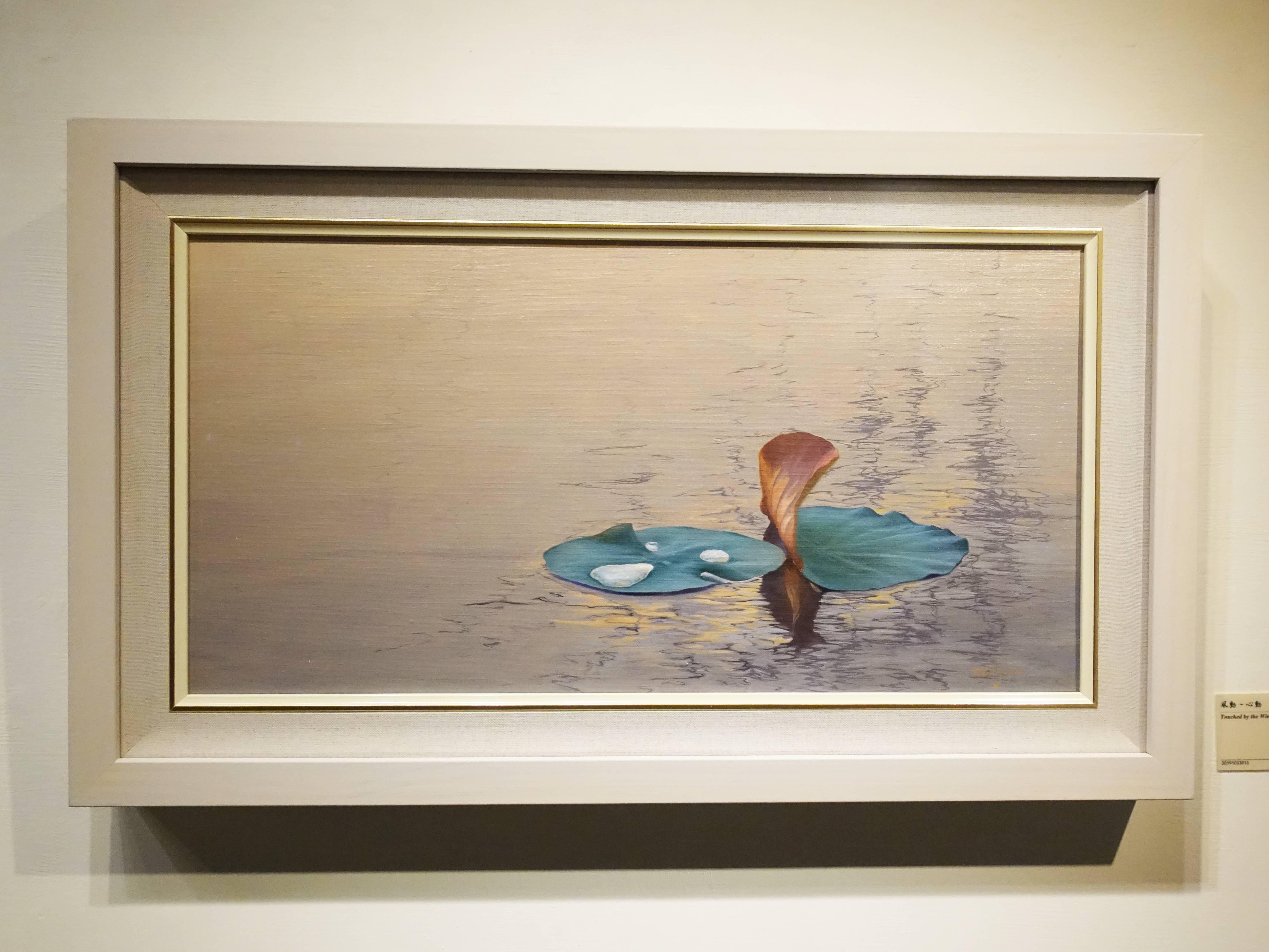 曾雅玲,《風動-心動》,60.5x31cm,油彩、畫布,2017。
